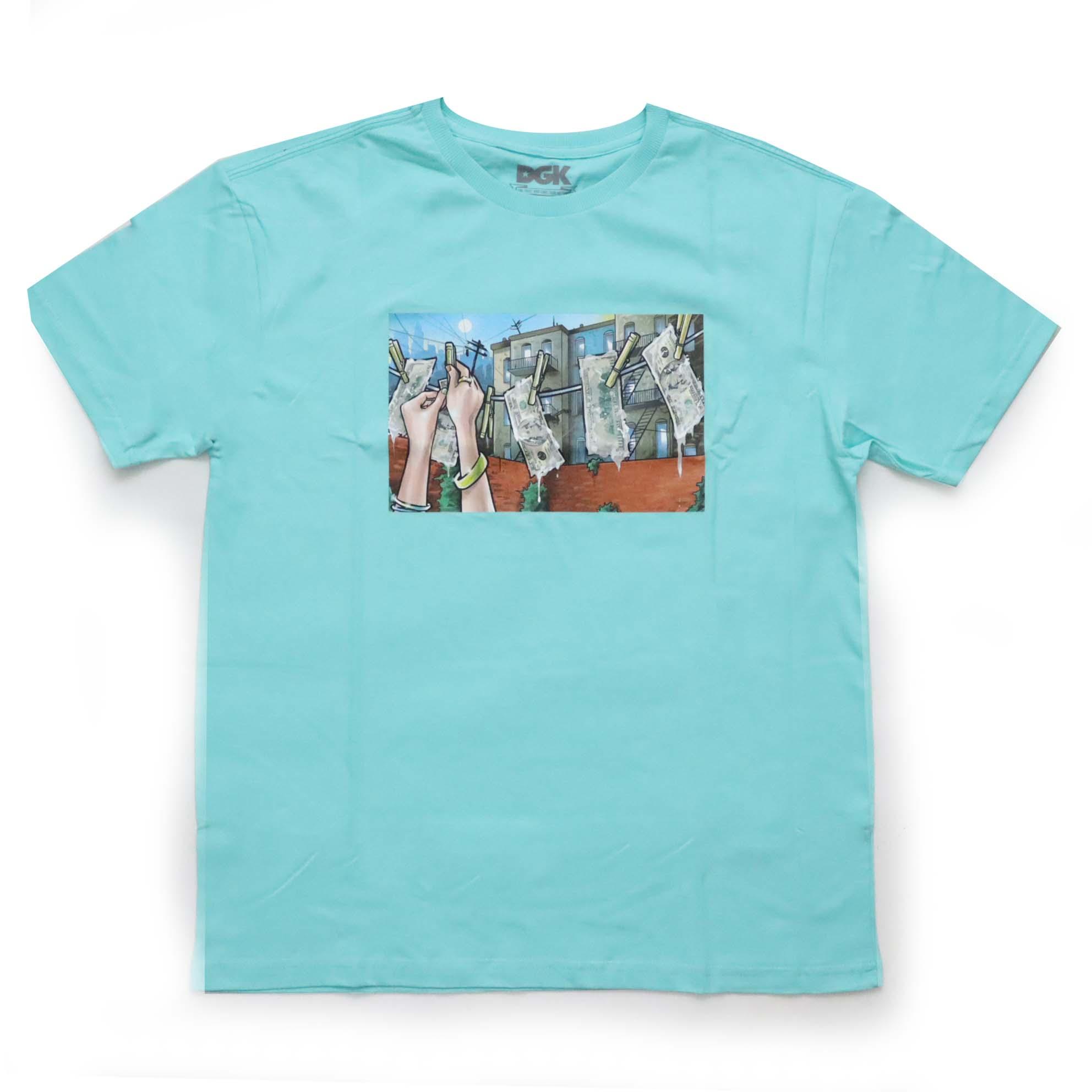 Camiseta DGK Laundry - Verde Claro