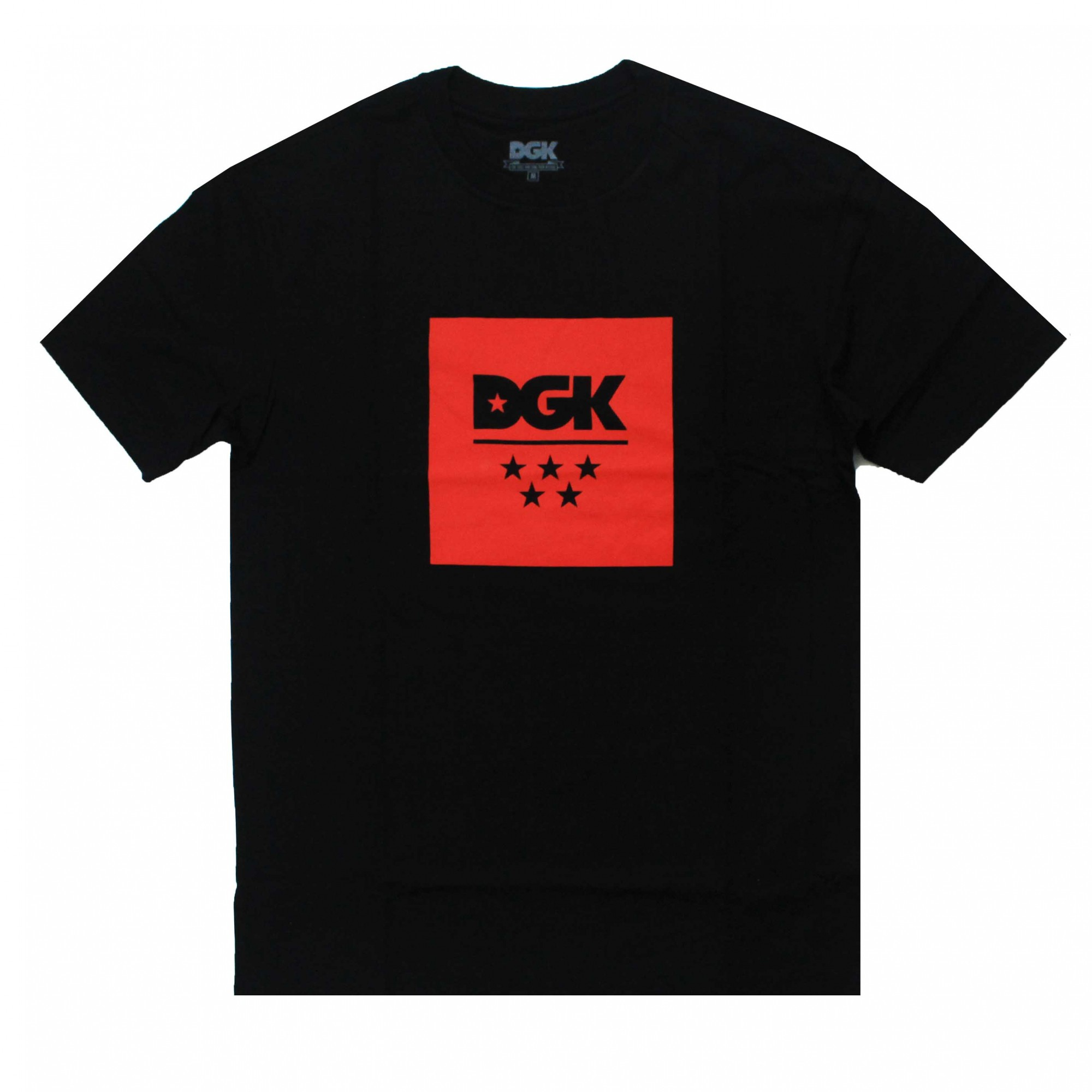 Camiseta DGK New All Star Preto/Vermelho
