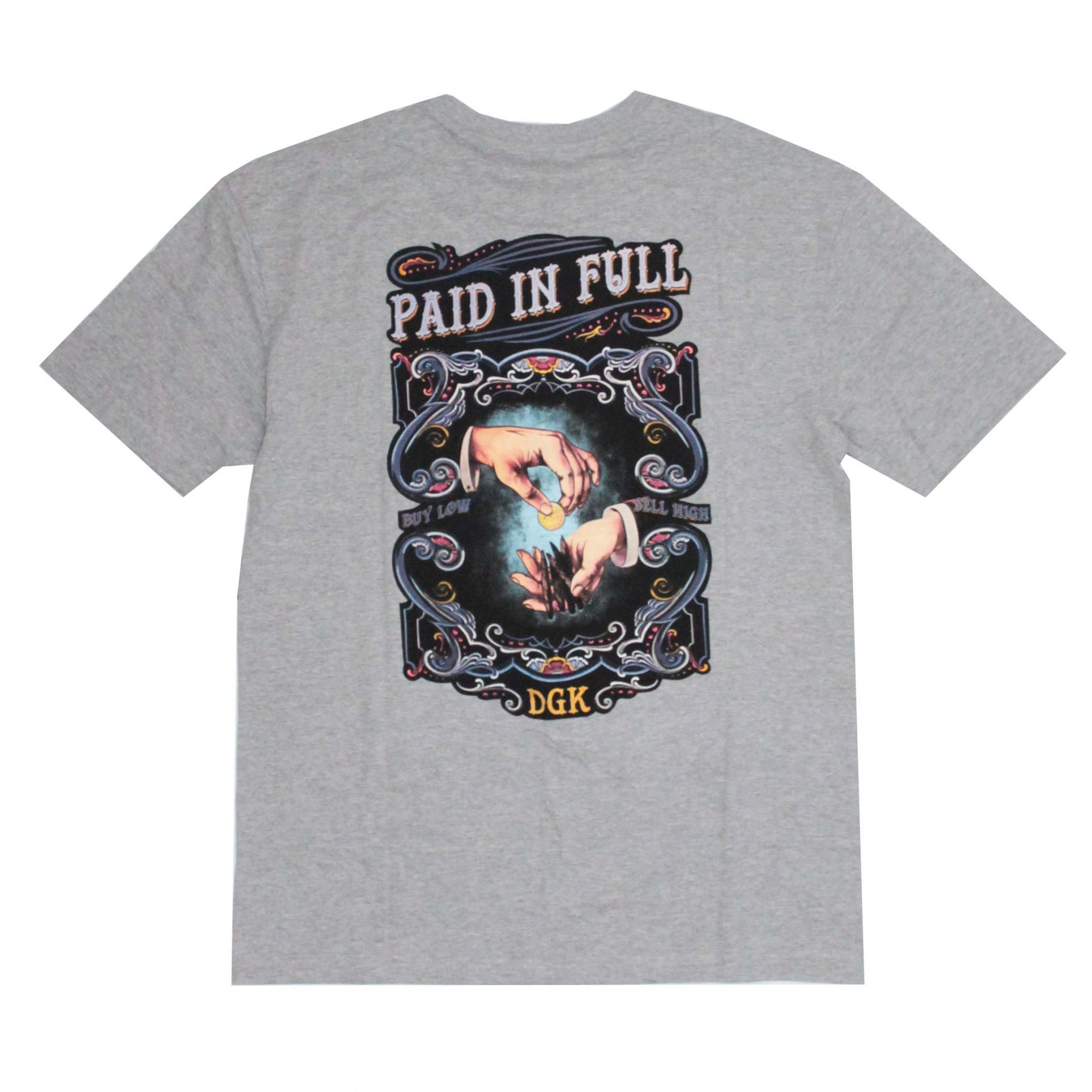 Camiseta DGK Paid And Full Cinza Mescla