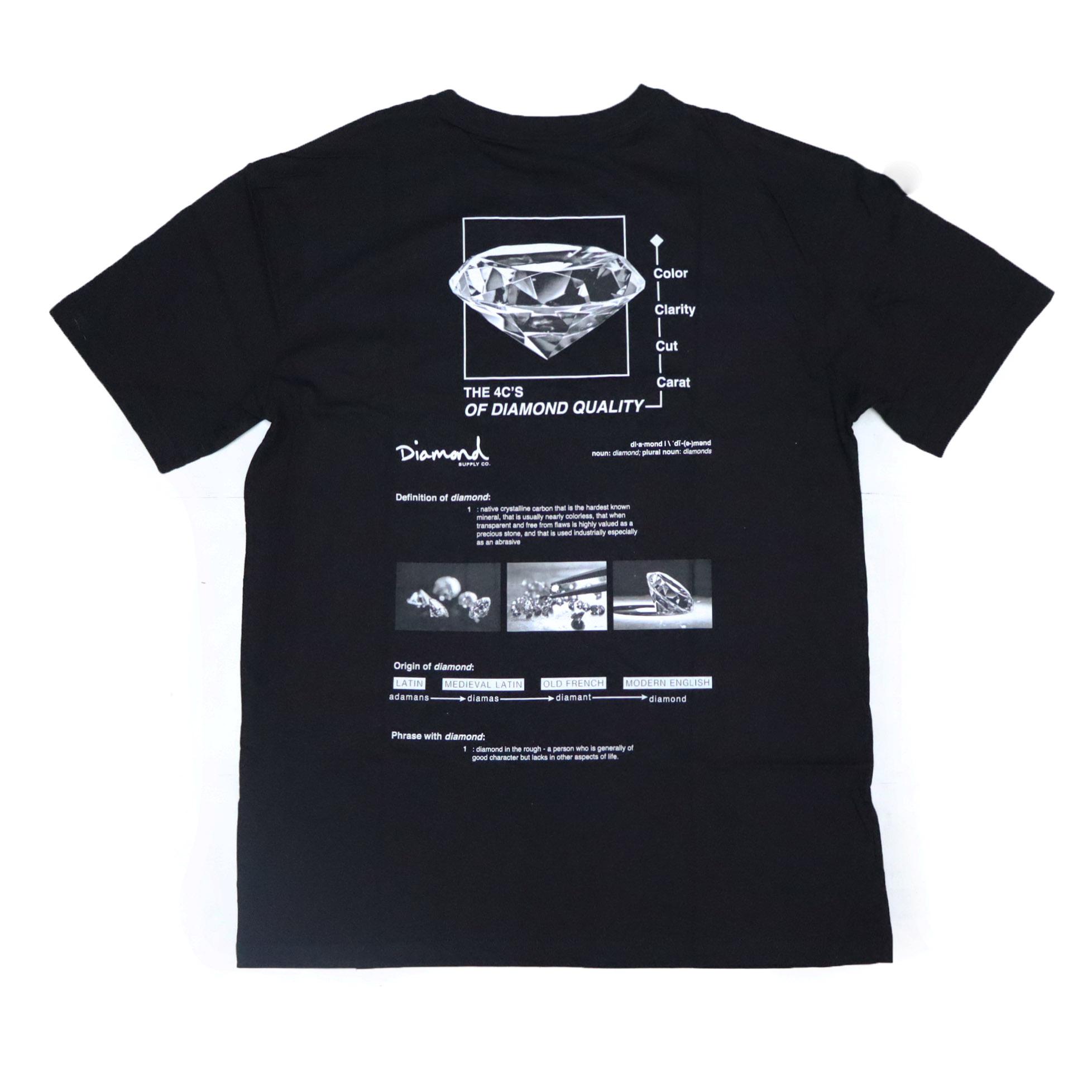 Camiseta Diamond Blueprint - Preto
