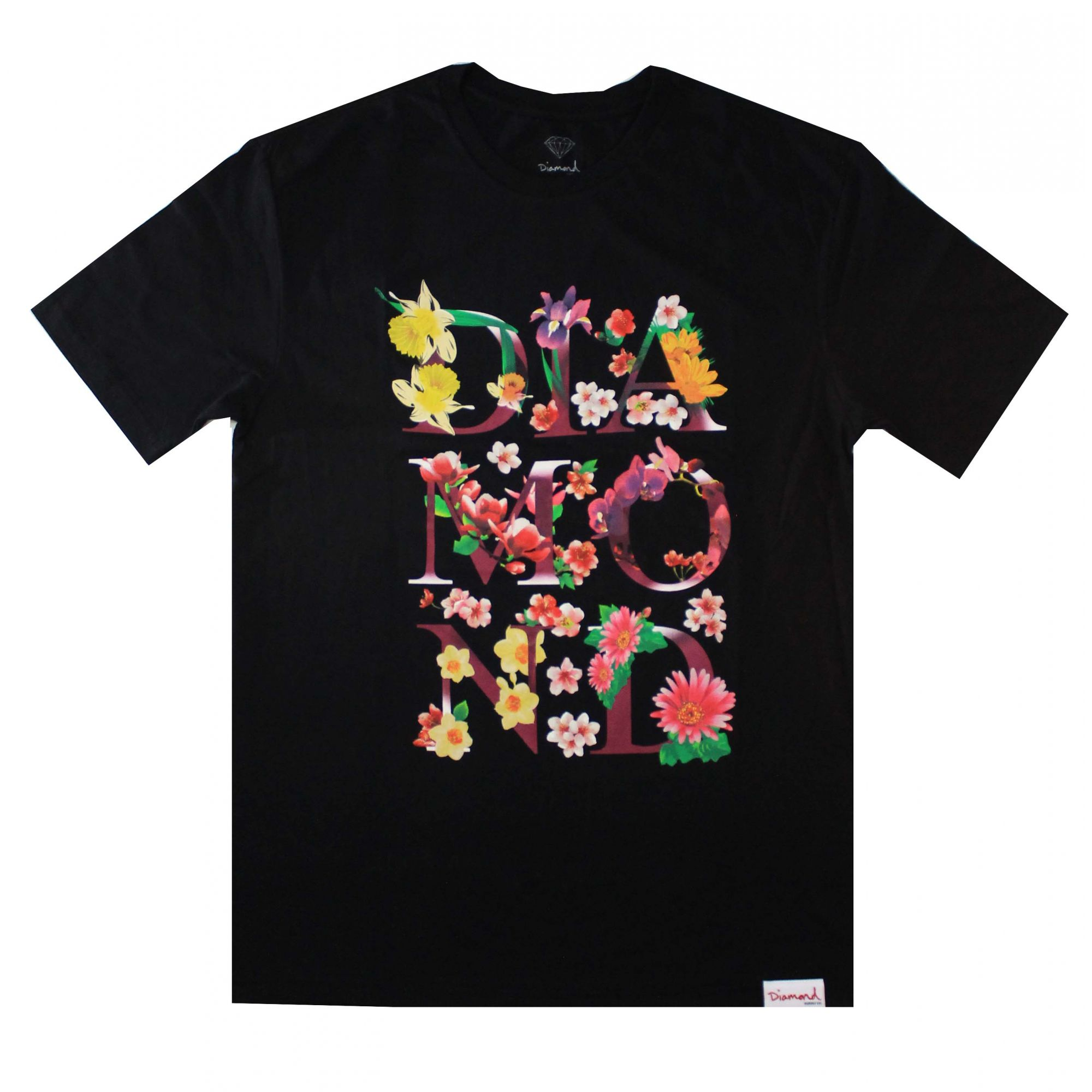 Camiseta Diamond Botanical Preto