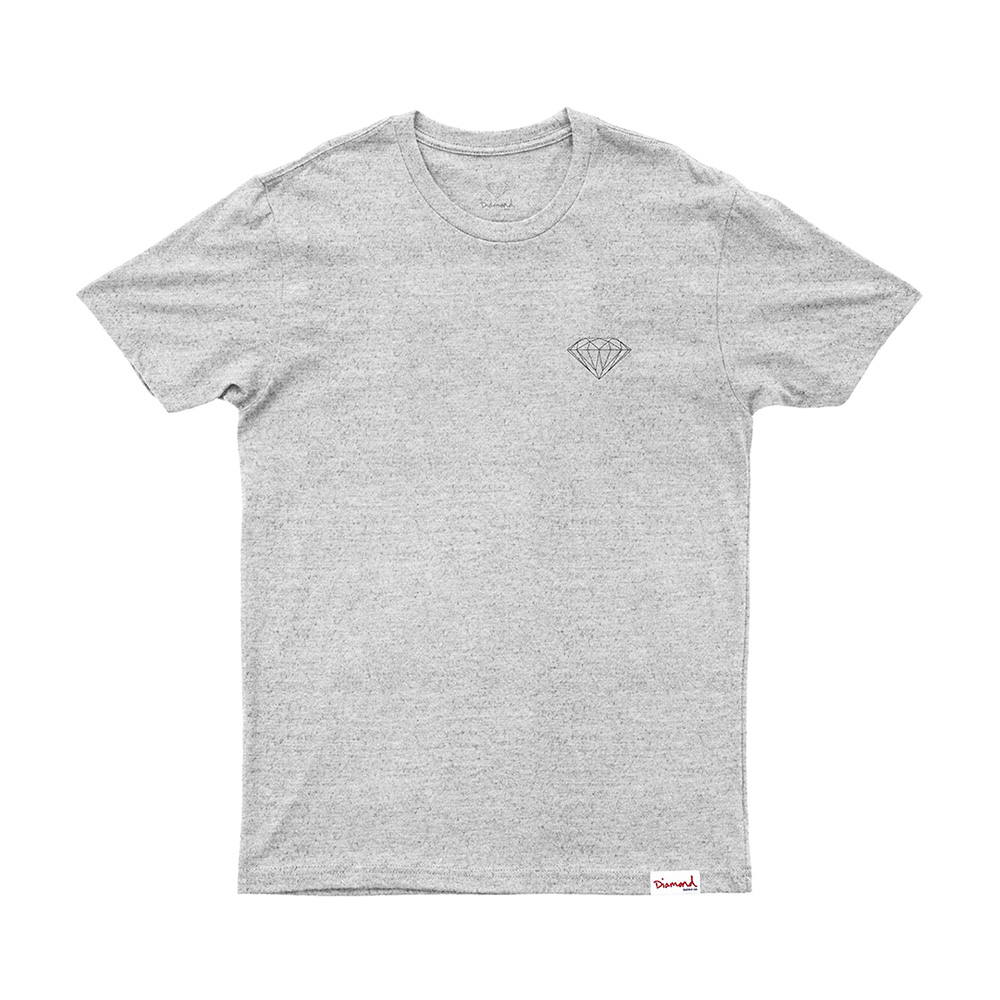 Camiseta Diamond Brilliant - Cinza Mescla