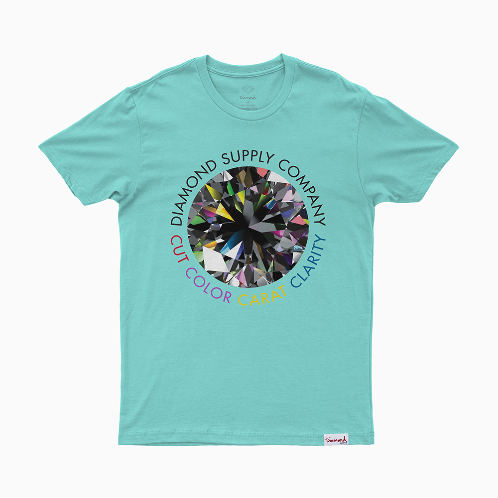 Camiseta Diamond Clarity - Azul Turqueza