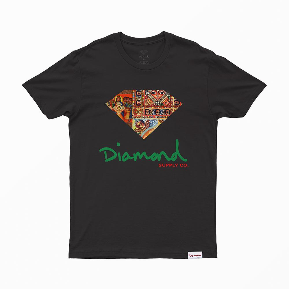 Camiseta Diamond Ethiopian - Preto