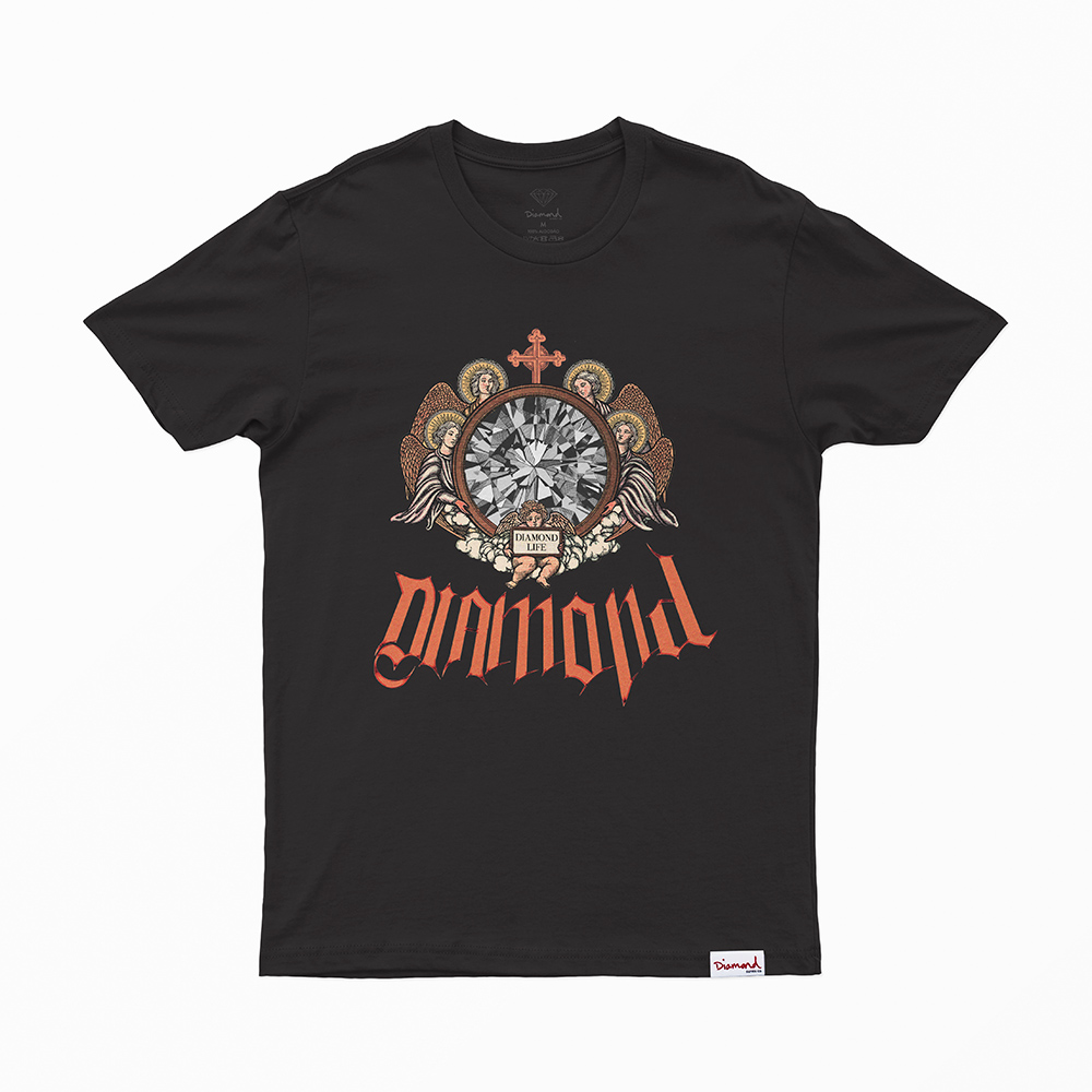 Camiseta Diamond Glass - Preto