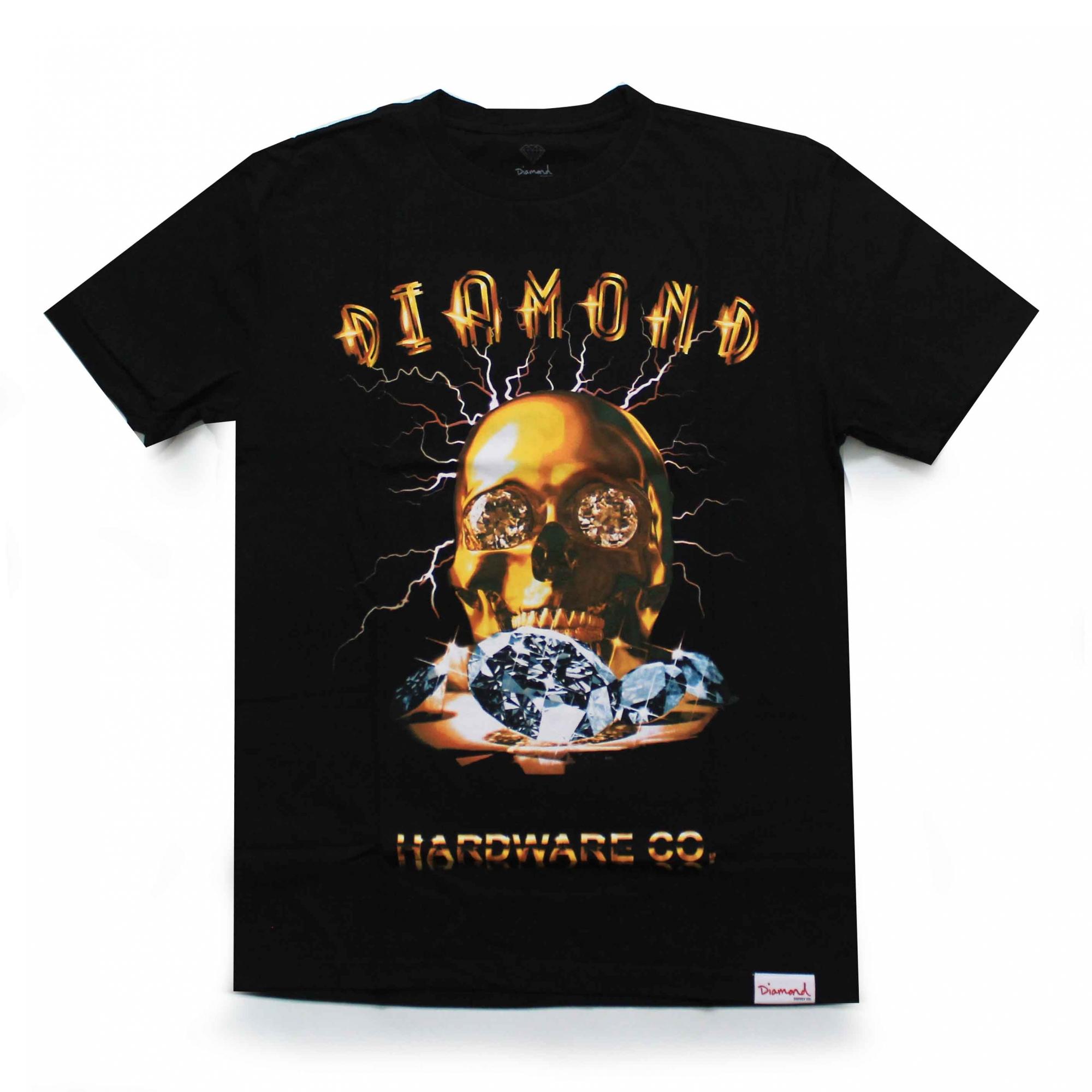 Camiseta Diamond Goldskull - Preto