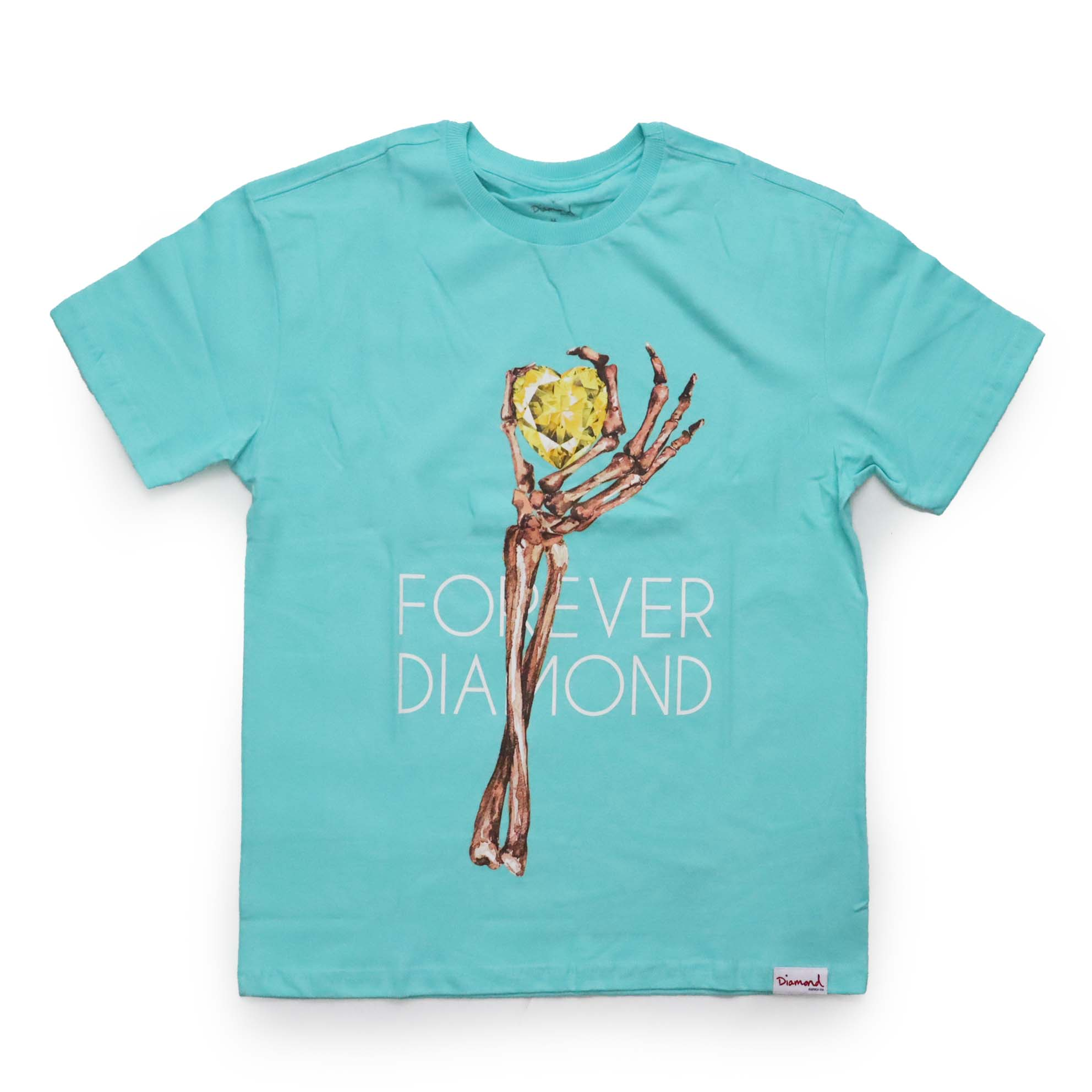 Camiseta Diamond Heart Of - Azul Turquesa