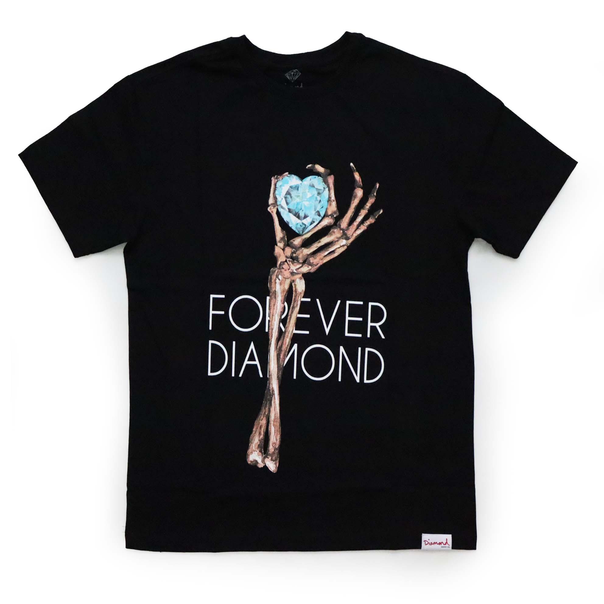Camiseta Diamond Heart Of - Preto