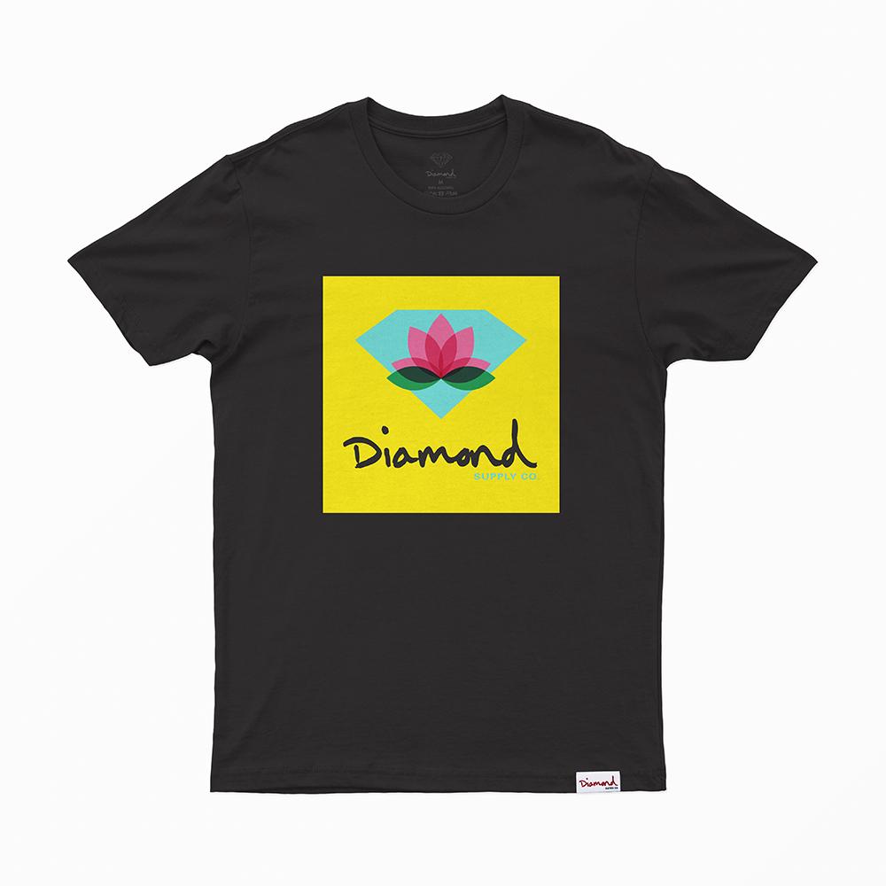 Camiseta Diamond Lotus Box Sign - Preto