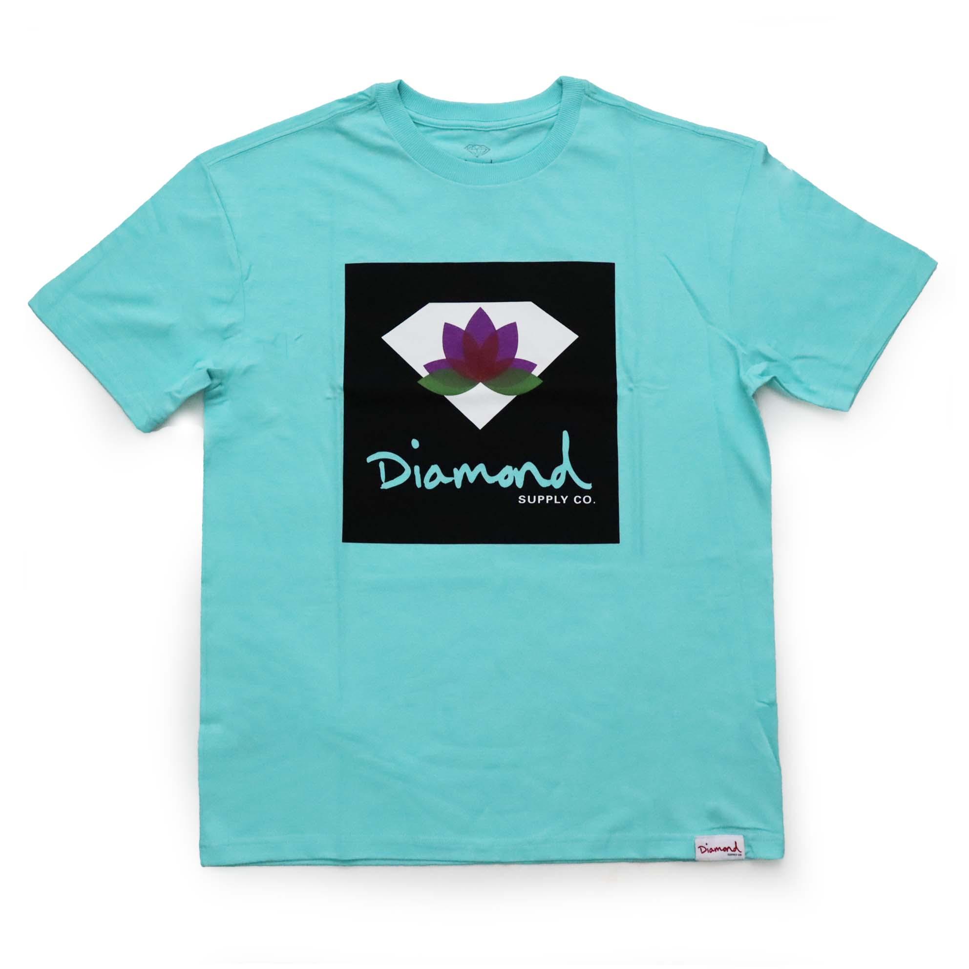Camiseta Diamond Lotus Box Sign - Verde