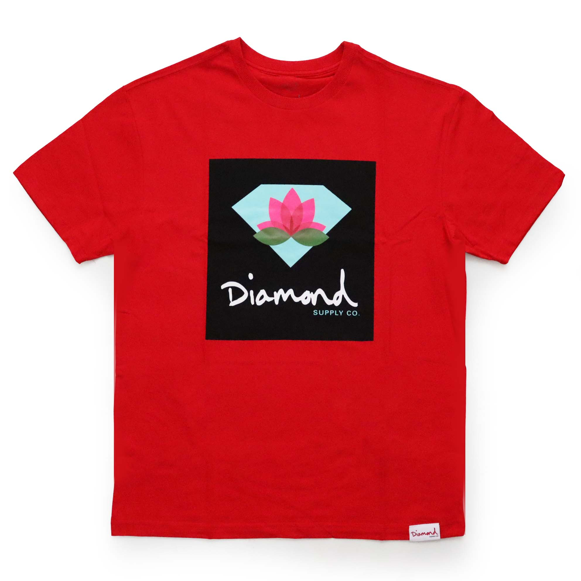 Camiseta Diamond Lotus Box Sign - Vermelho