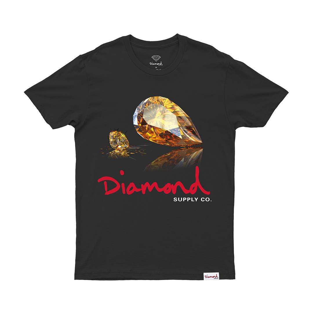 Camiseta Diamond Mirror - Preto