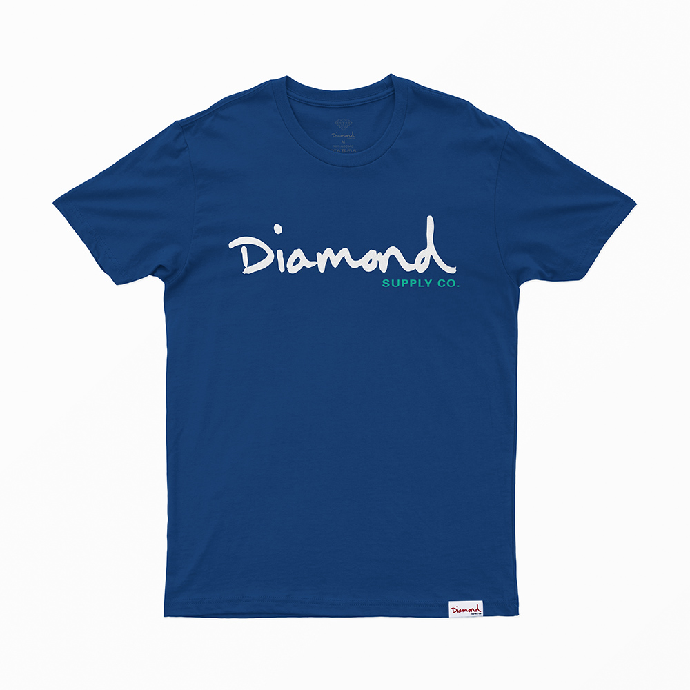 Camiseta Diamond Og Script - Azul Royal