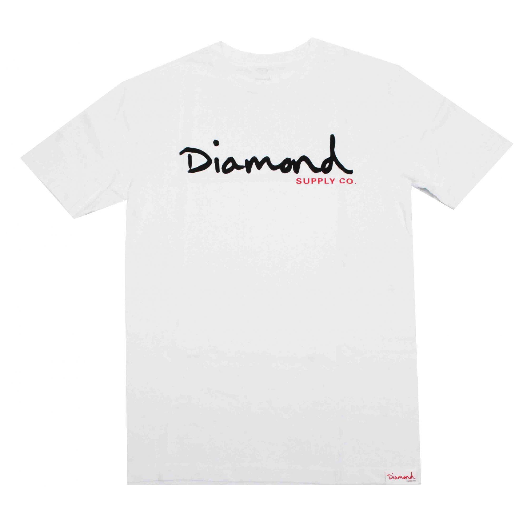 Camiseta Diamond Og Script - Branco/Preto