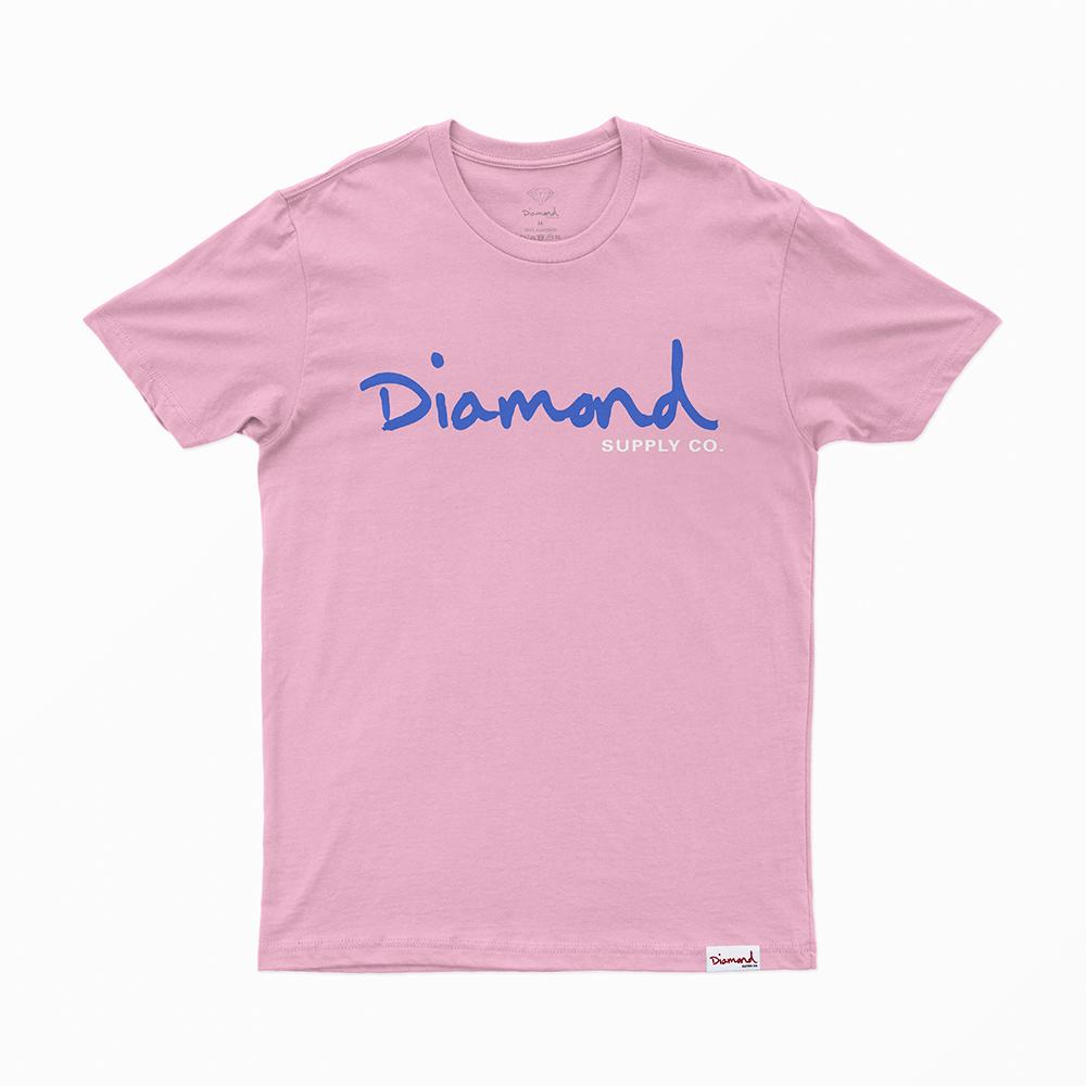 Camiseta Diamond Og Script - Rosa/Azul