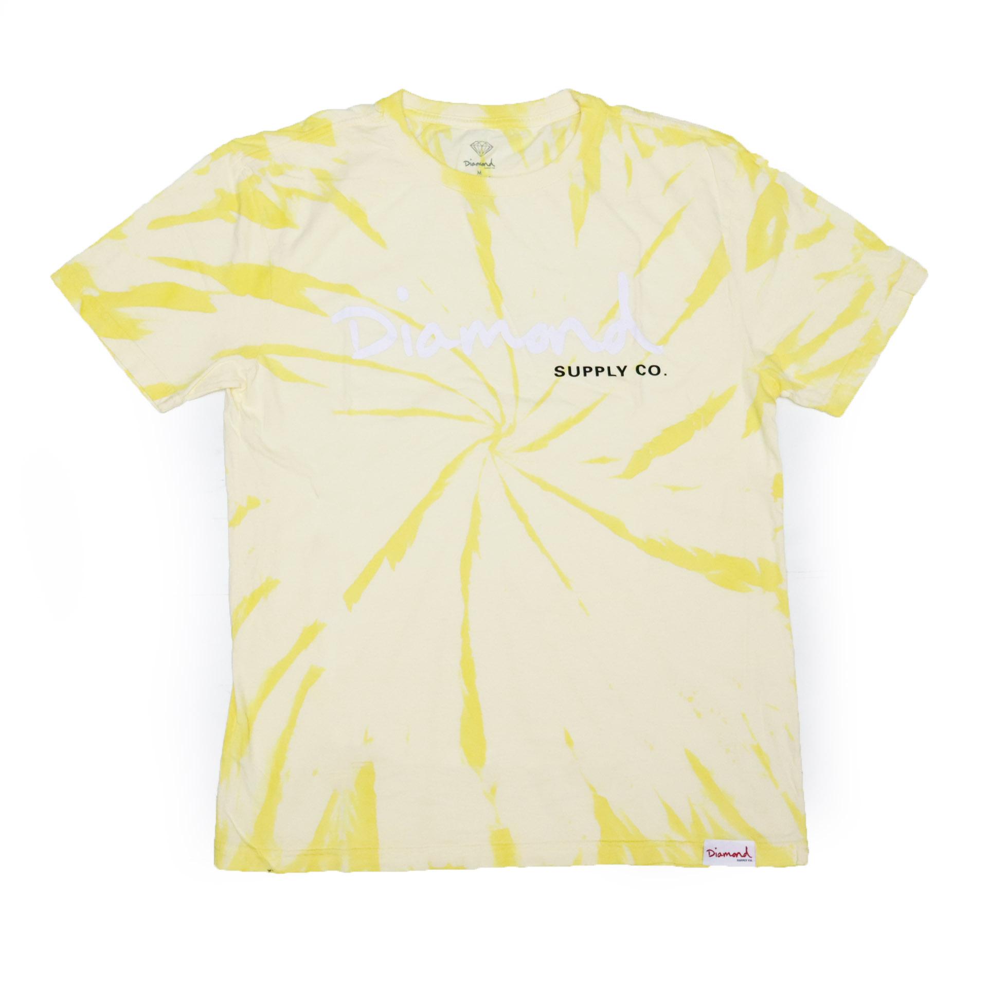 Camiseta Diamond Og Script - Tie Dye Amarelo