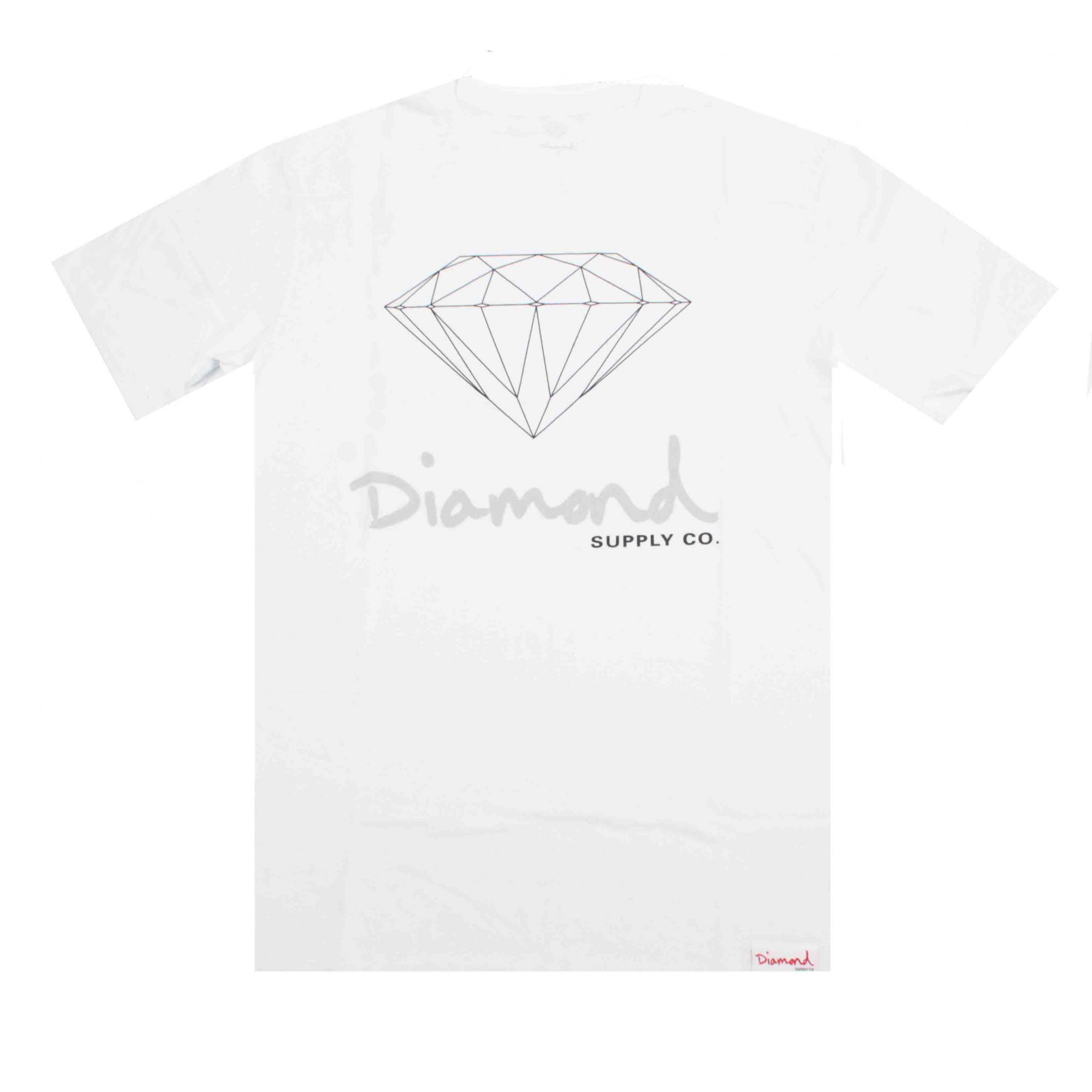Camiseta Diamond Og Sign - Branco/Preto