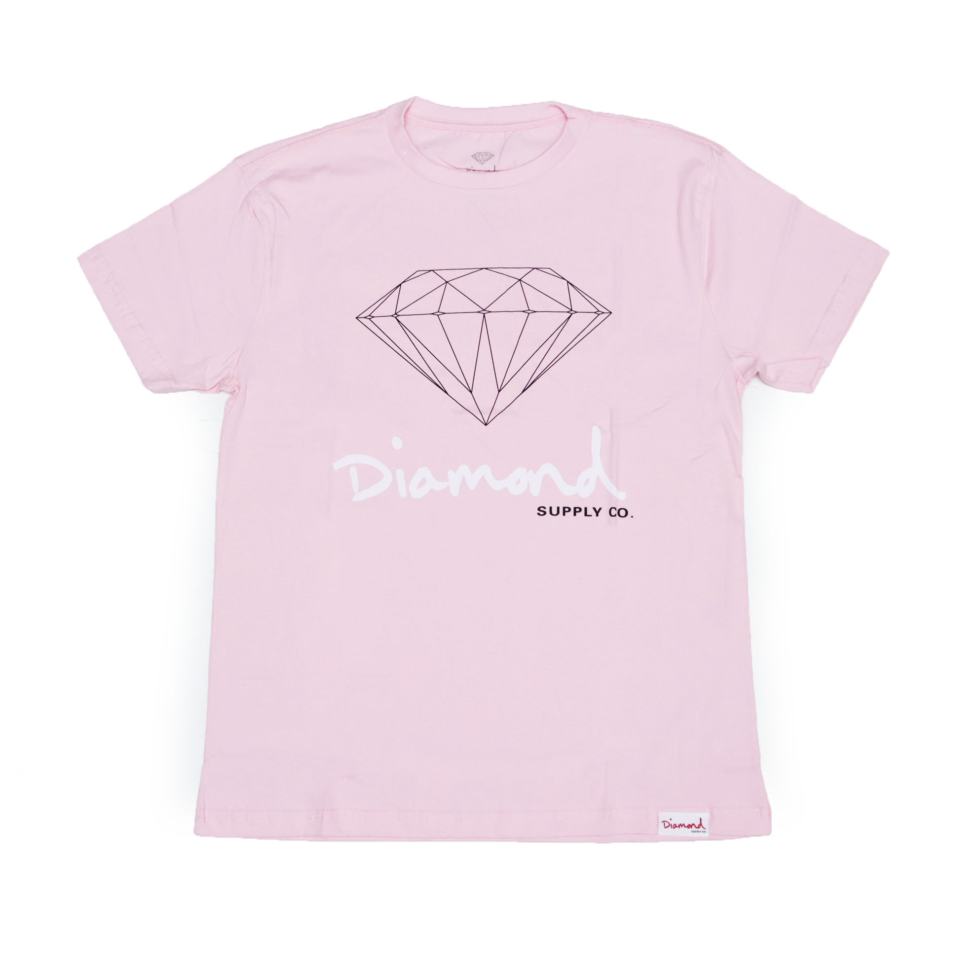 Camiseta Diamond Og Sign - Rosa/Preto