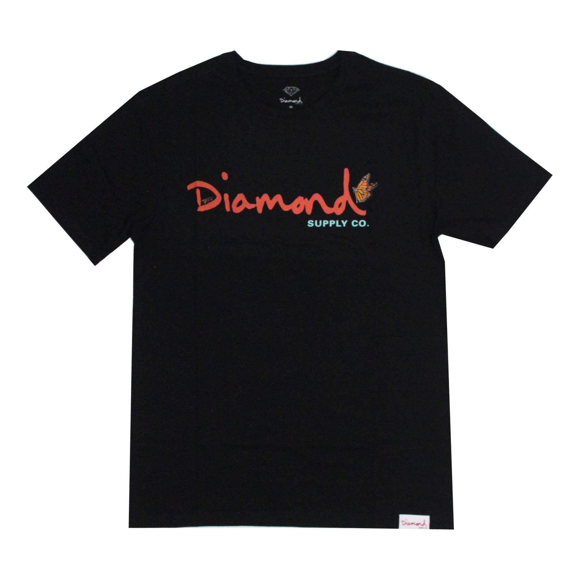 Camiseta Diamond Paradise Og Script Preto