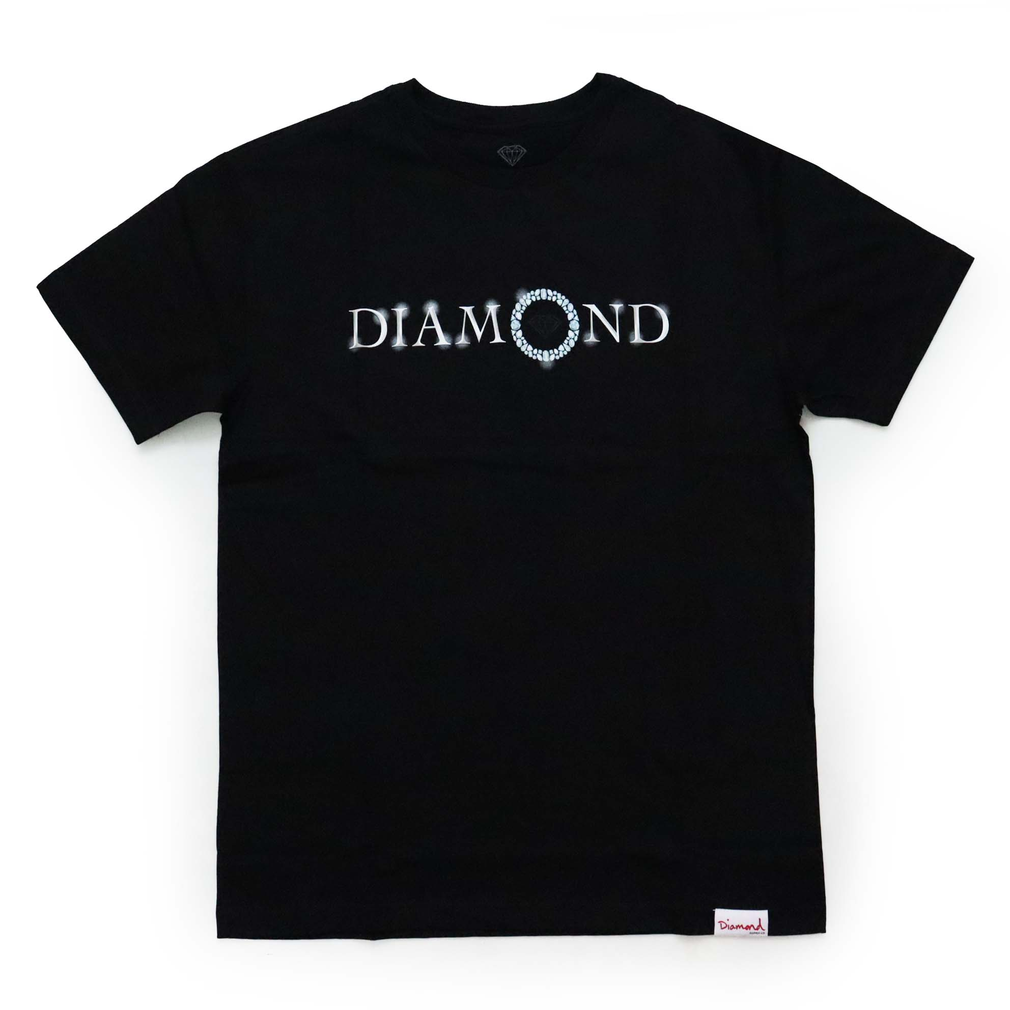 Camiseta Diamond Pendant - Preto