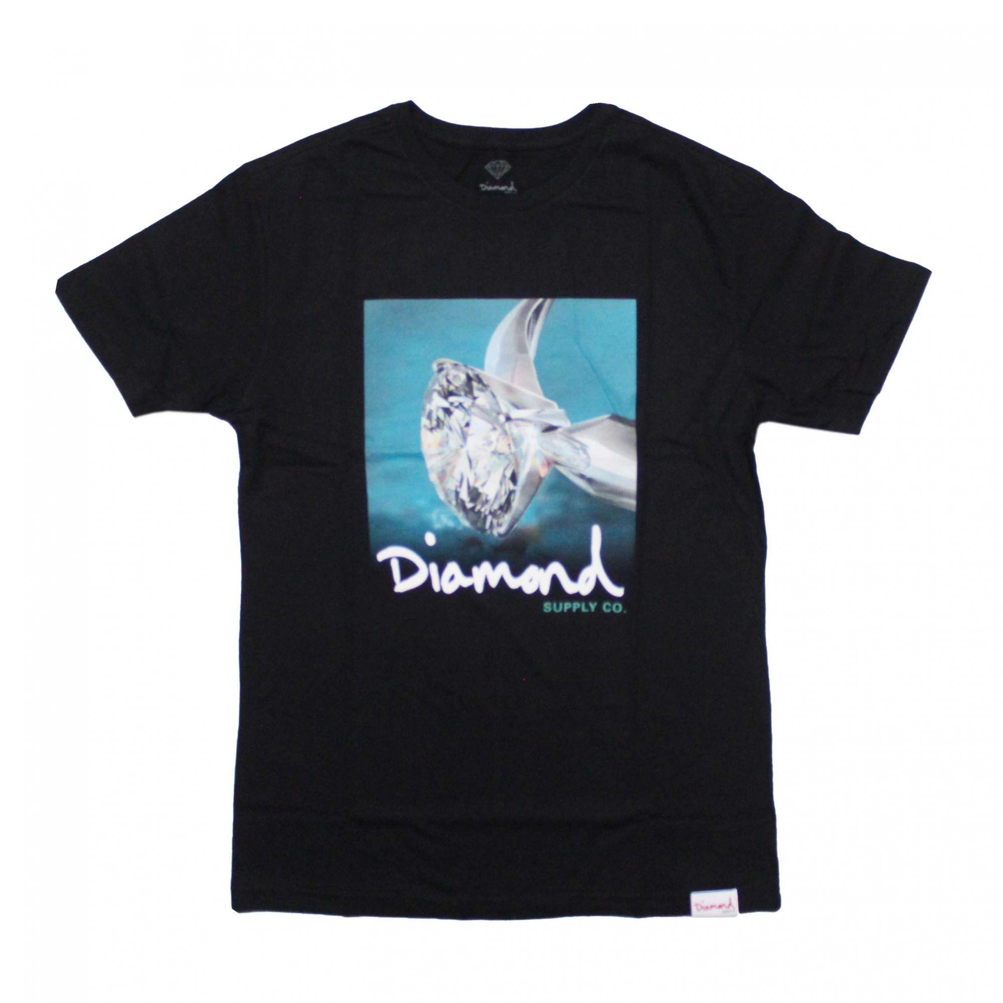 Camiseta Diamond Shimmer Preto