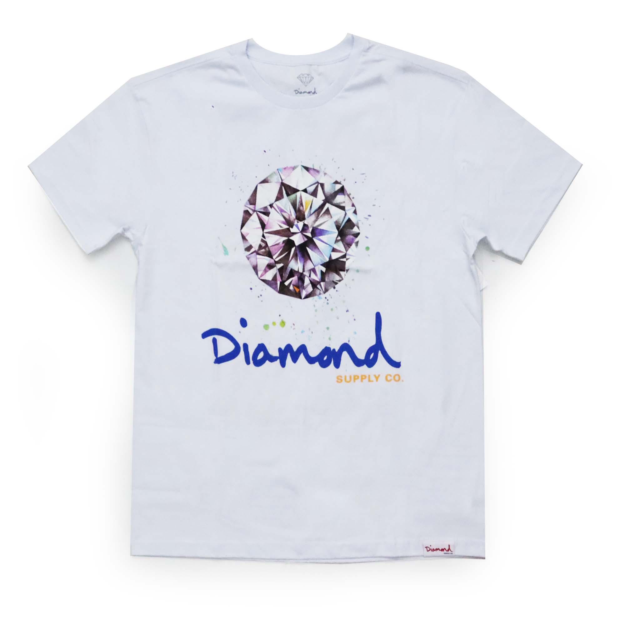 Camiseta Diamond Splash Sign - Branco