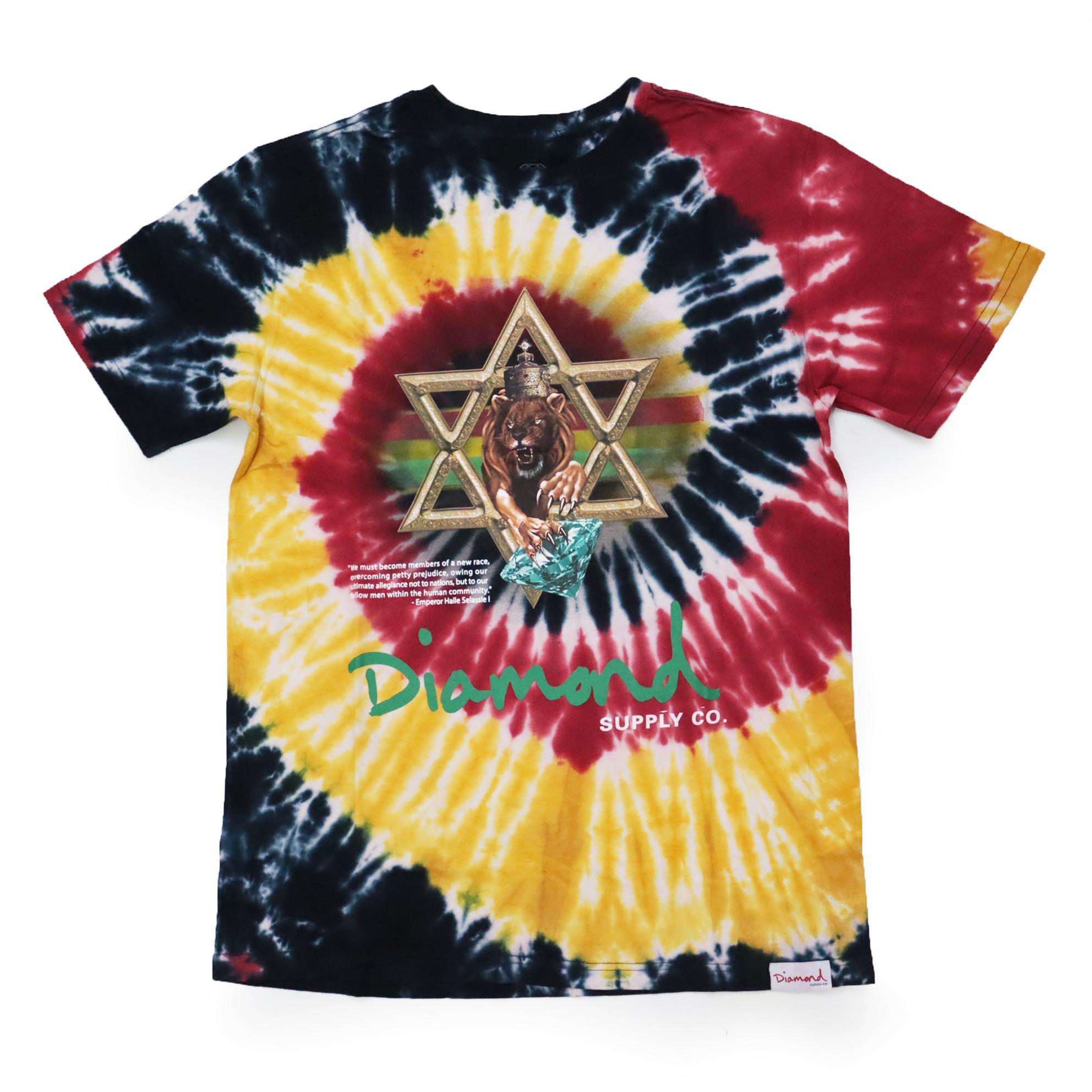 Camiseta Diamond Star Of Davi - Tie Dye Colorido