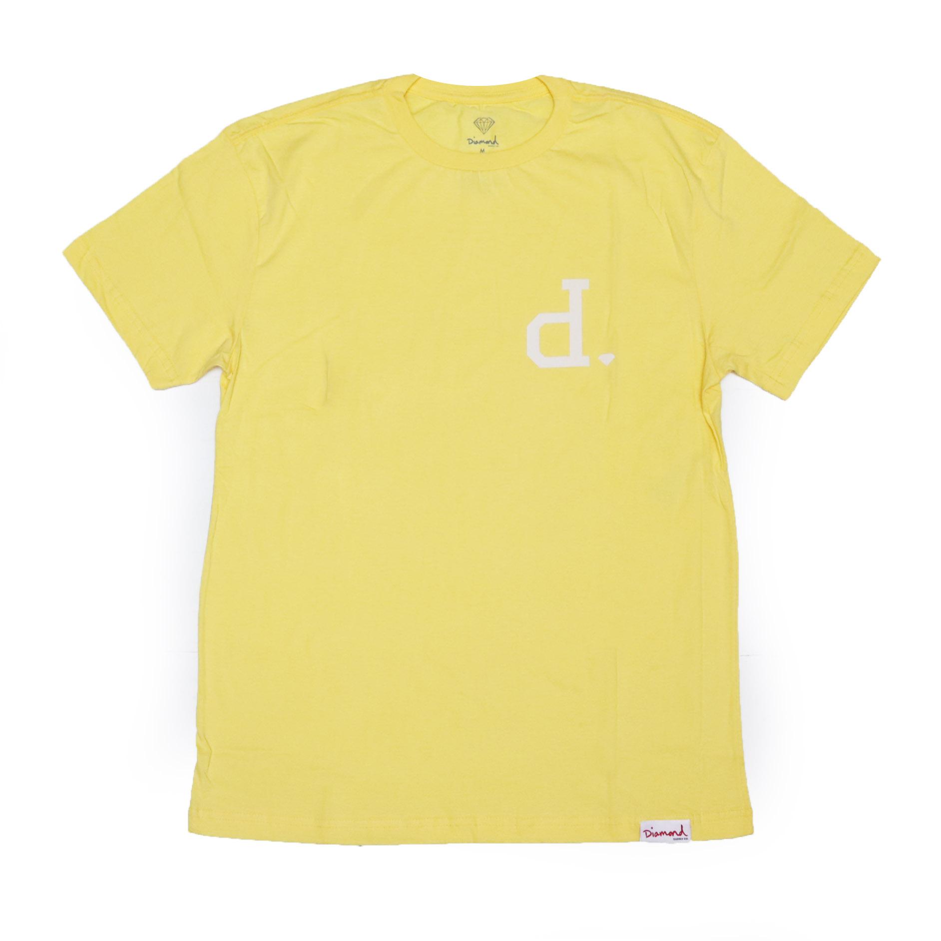 Camiseta Diamond Un Polo - Amarelo/Branco