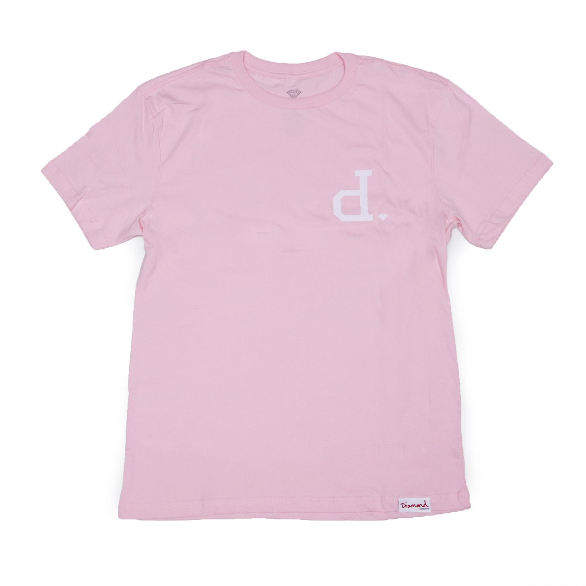 Camiseta Diamond Un Polo - Rosa/Branco