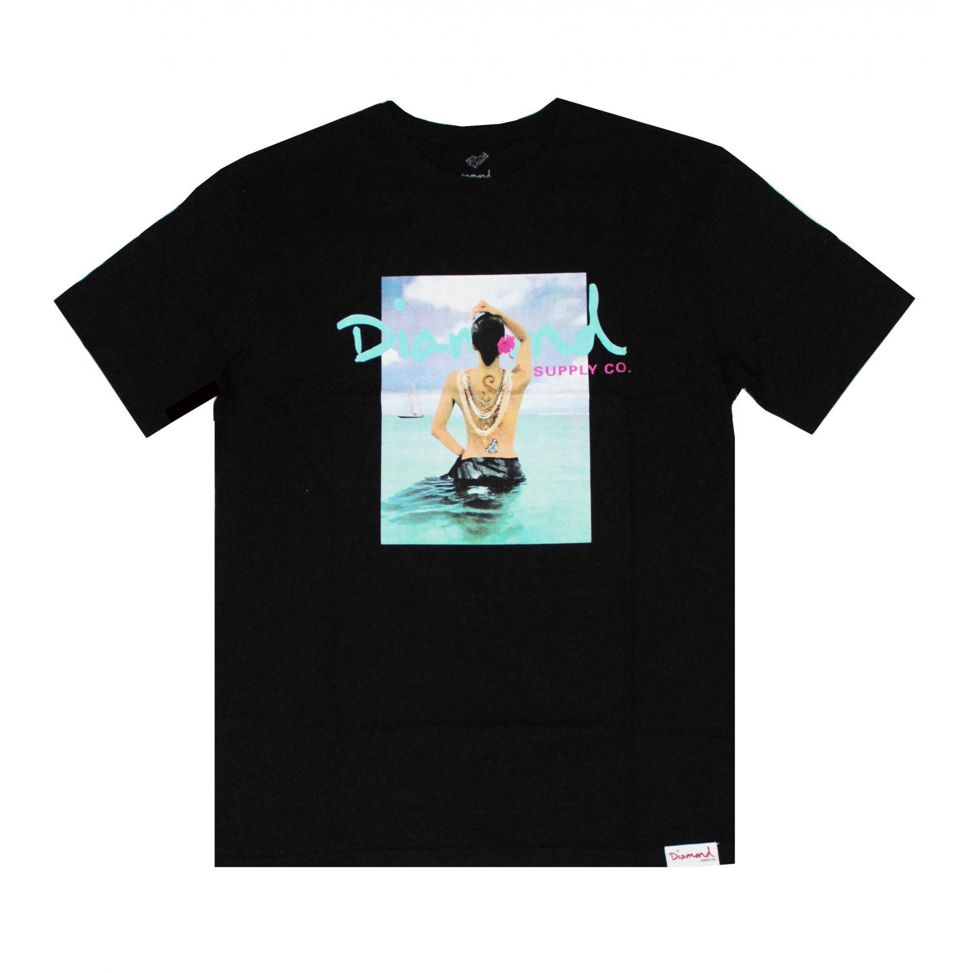 Camiseta Diamond Waist Deep Preto