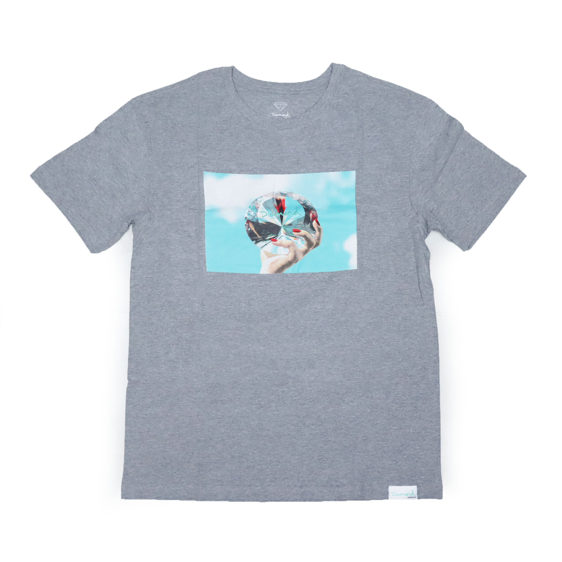 Camiseta Diamond WILL x DMND Sky - Cinza Mescla