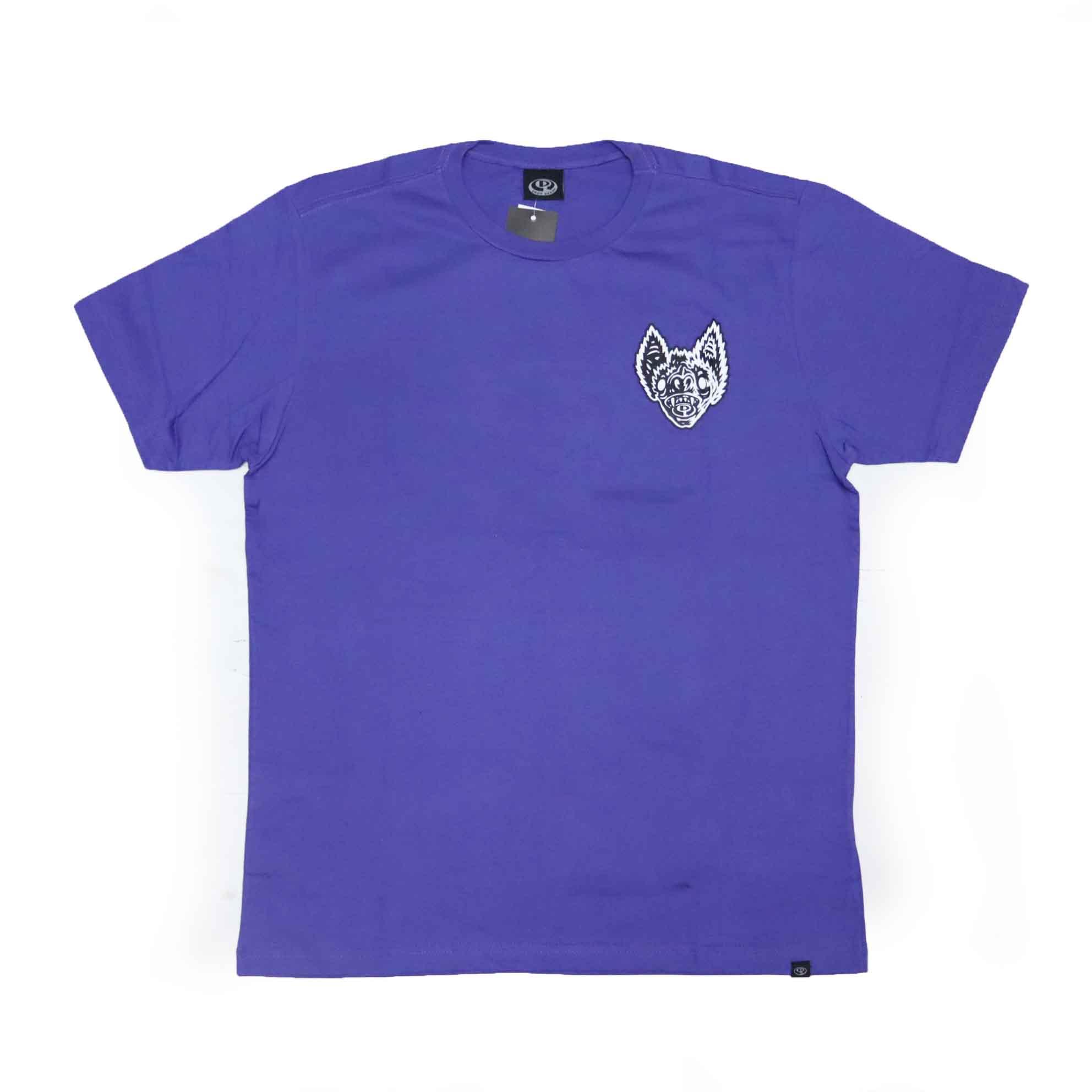 Camiseta Drop Dead Bat Head - Roxo