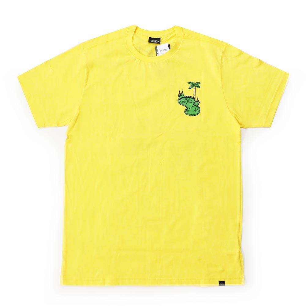 Camiseta Drop Dead Borda - Amarelo