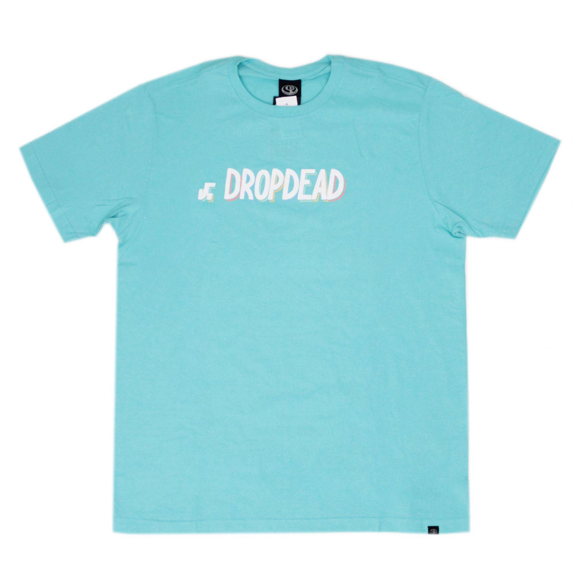 Camiseta Drop Dead Colored Azul Turquesa