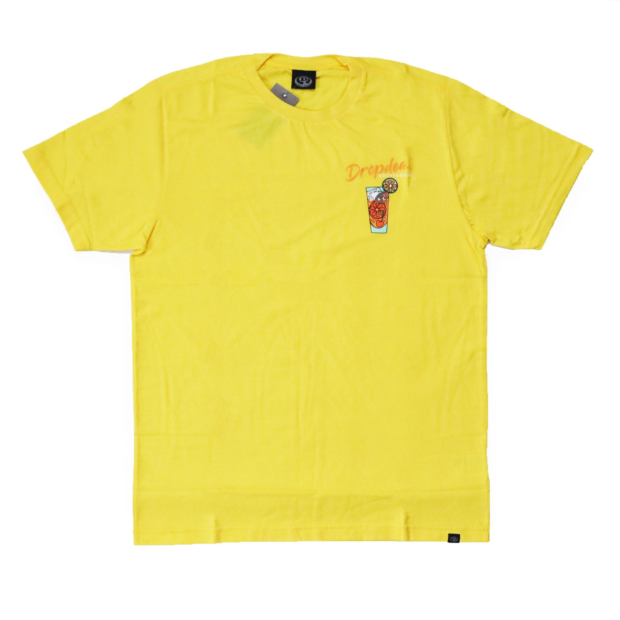 Camiseta Drop Dead Drink - Amarelo