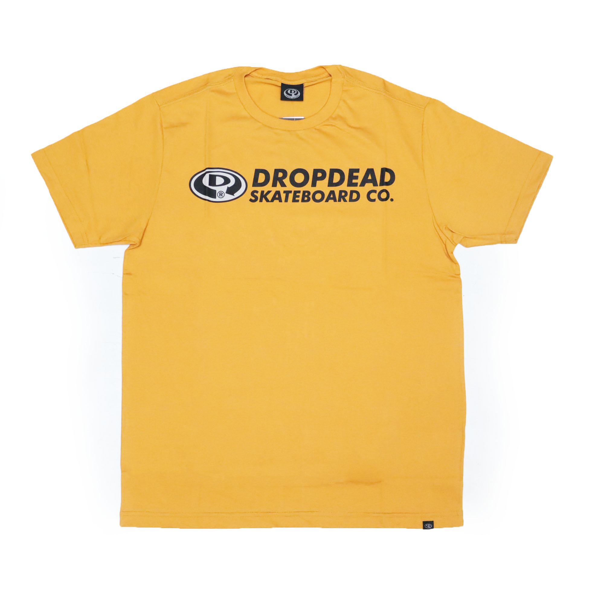 Camiseta Drop Dead Elipse Futura 2 - Amarelo Mostarda