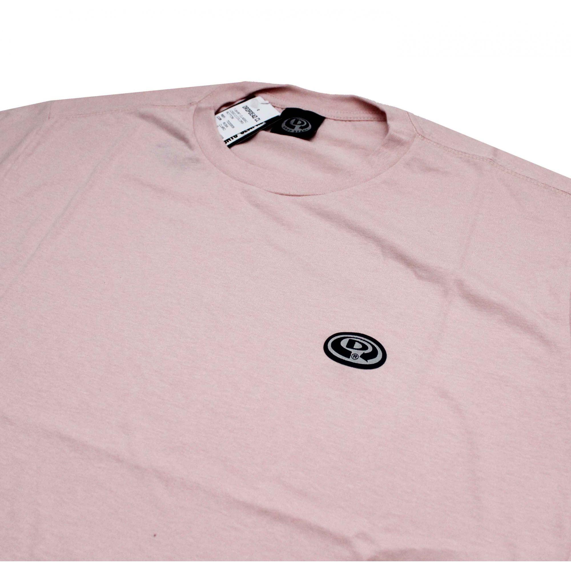 Camiseta Drop Dead Logo 2 Colors Bottom Pink