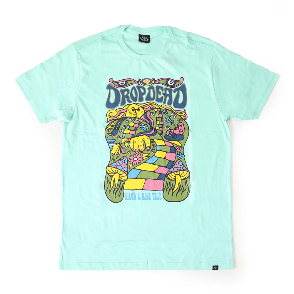 Camiseta Drop Dead Nice Trip - Azul Turquesa