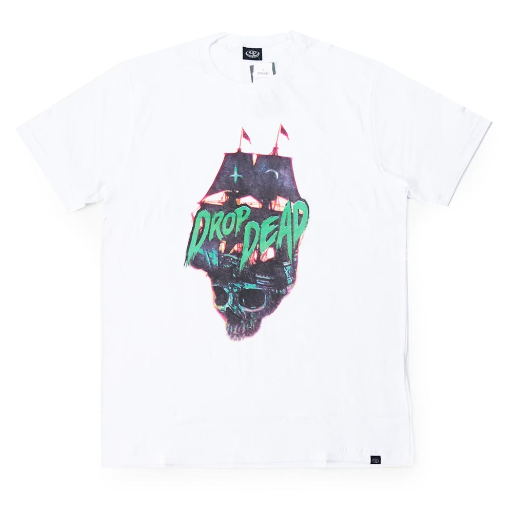 Camiseta Drop Dead Pirate Navy - Branco