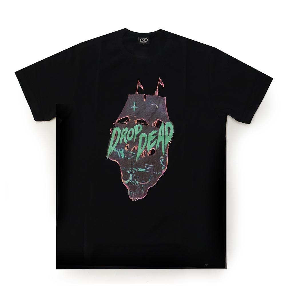 Camiseta Drop Dead Pirate Navy - Preto