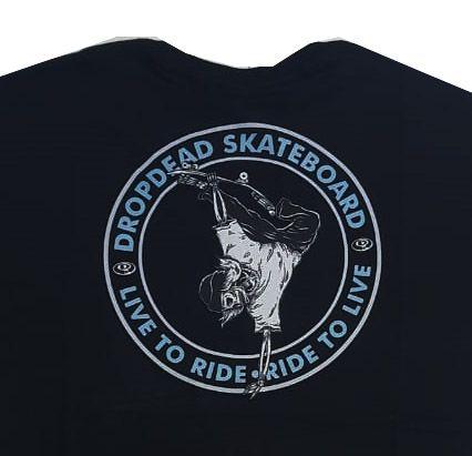 Camiseta Drop Dead Ride To Live Black