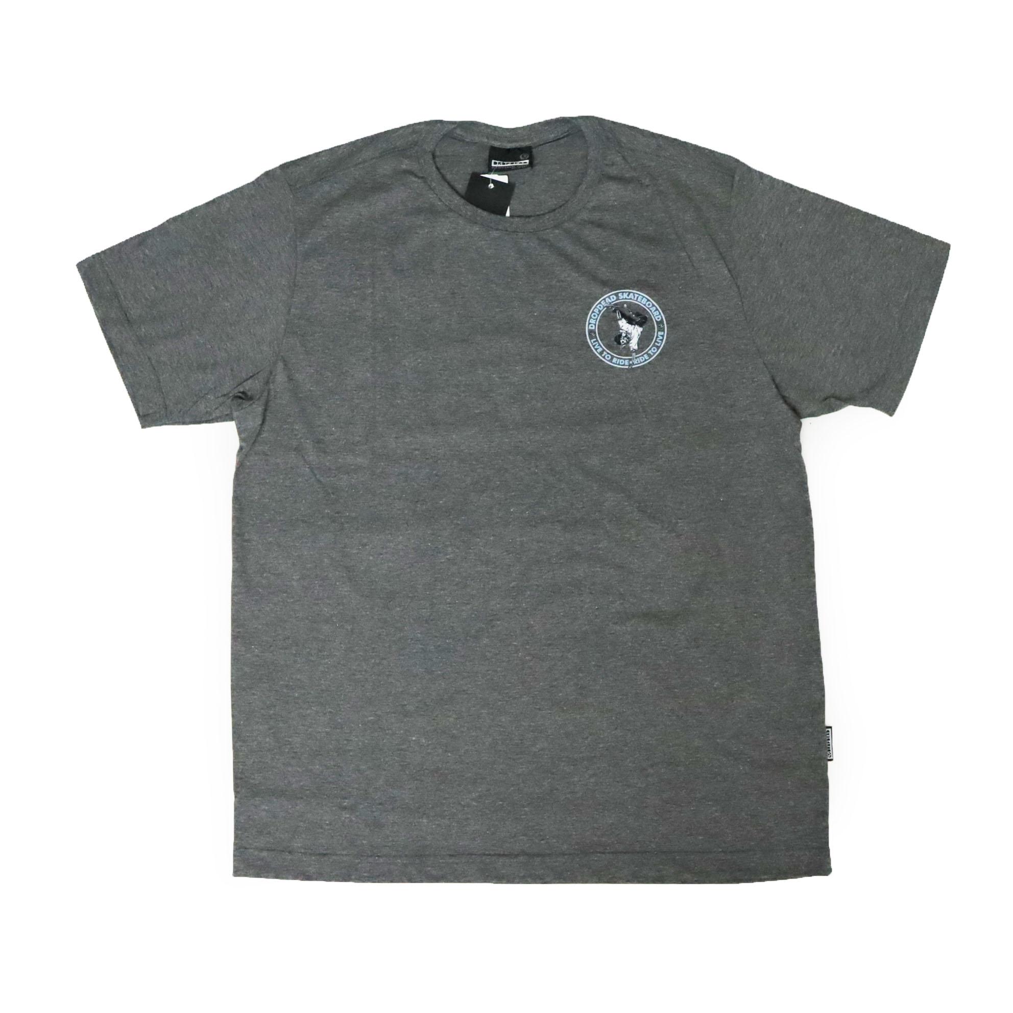 Camiseta Drop Dead Ride To Live - Chumbo Mescla