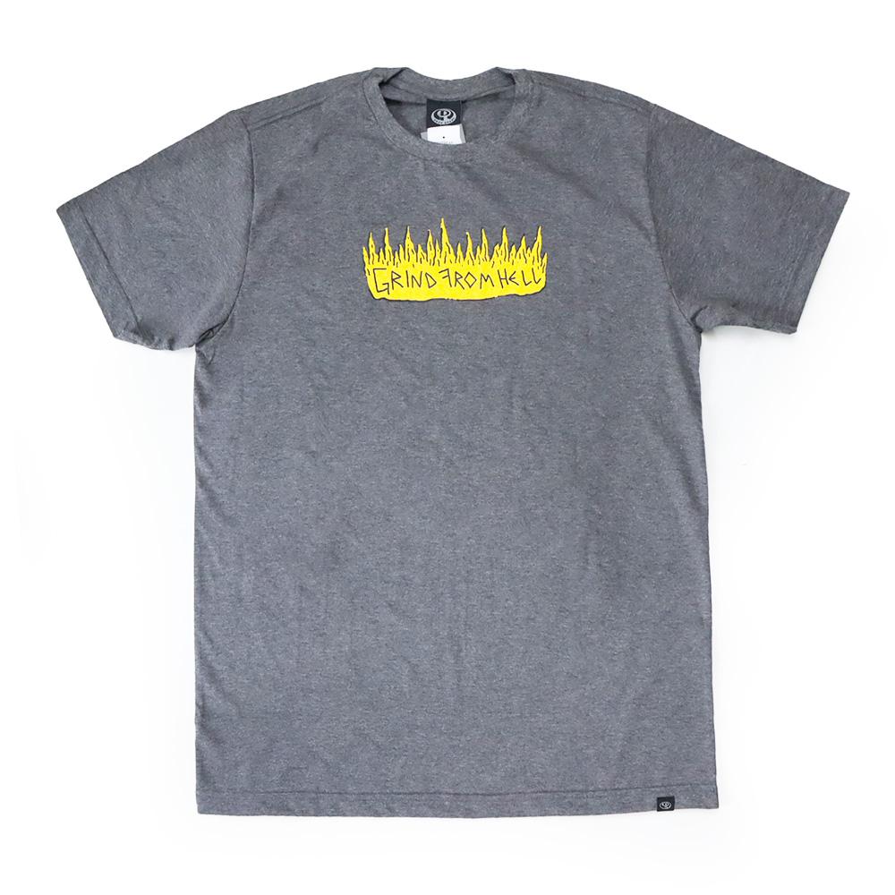 Camiseta Drop Dead Skull Skater - Chumbo Mescla