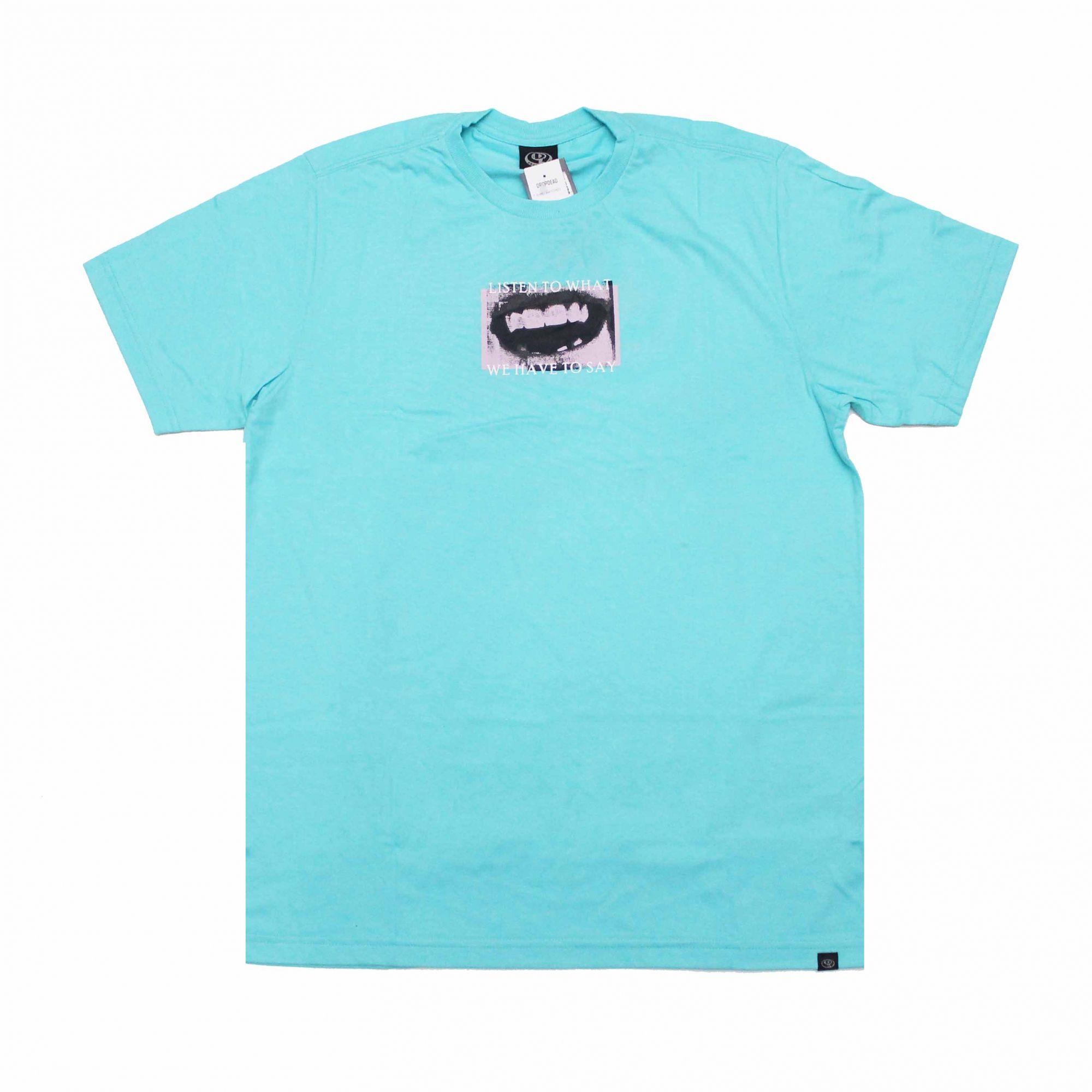 Camiseta Drop Dead Watch Azul Turquesa