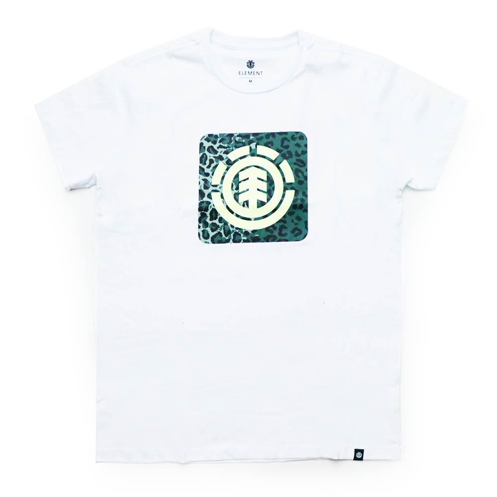 Camiseta Element Leopard Block Icon - Branco