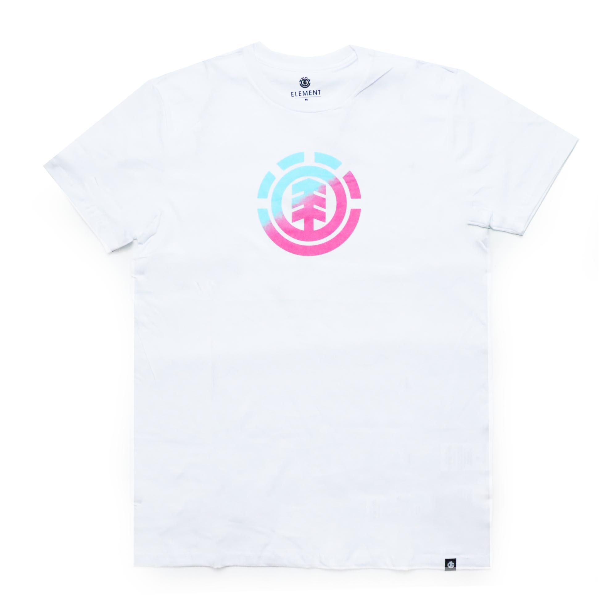 Camiseta Element Quadrant Teal - Branco