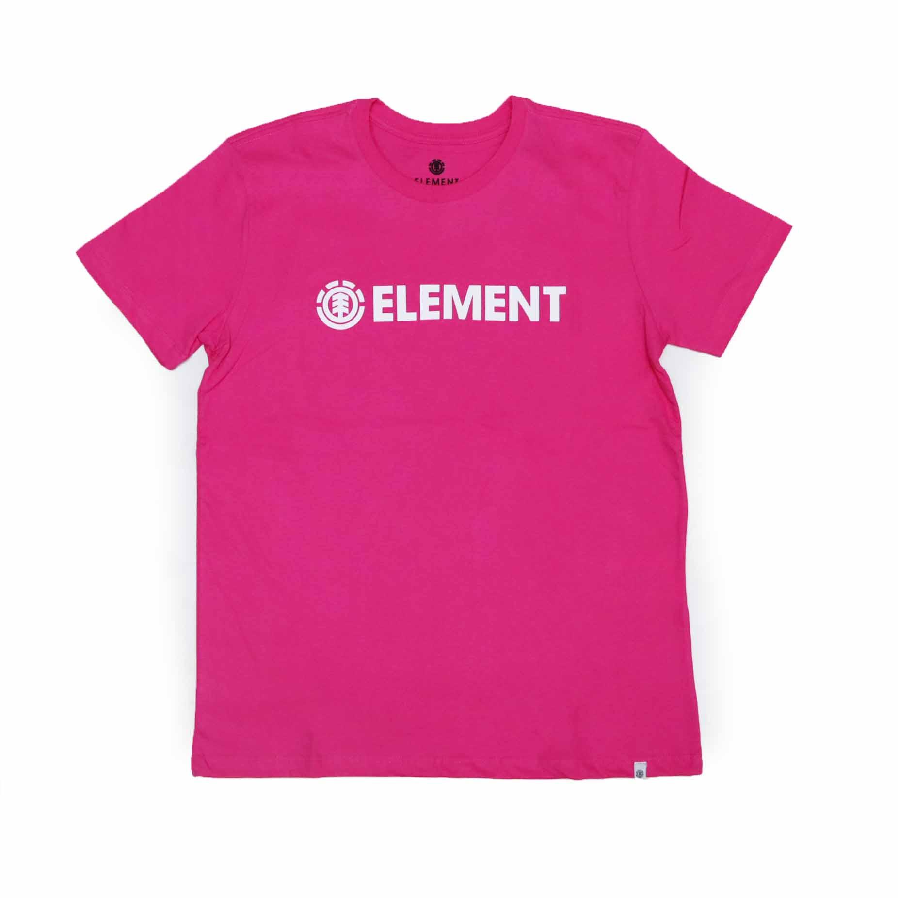 Camiseta Feminina Element Logo - Rosa
