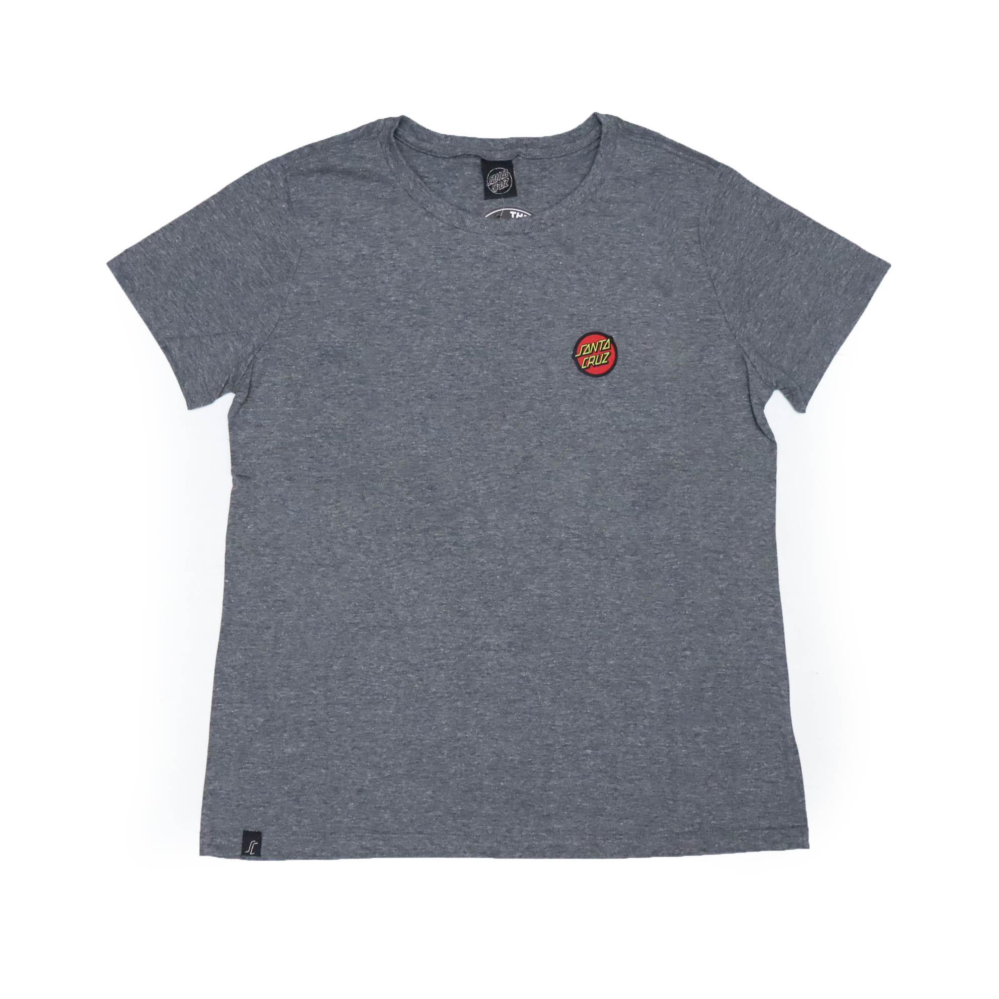 Camiseta Feminina Santa Cruz Classic Dot Chest - Chumbo Mescla
