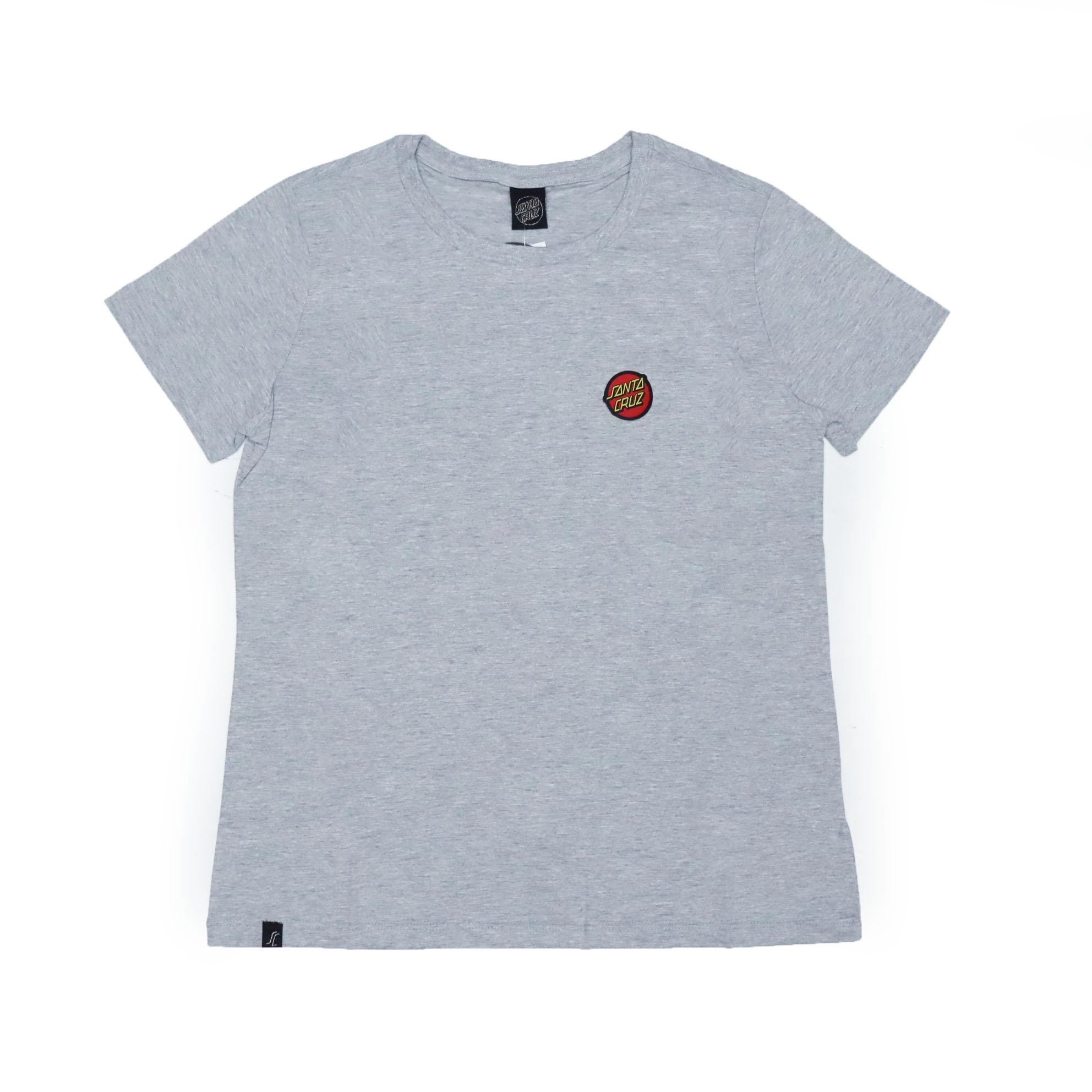 Camiseta Feminina Santa Cruz Classic Dot Chest - Cinza Mescla