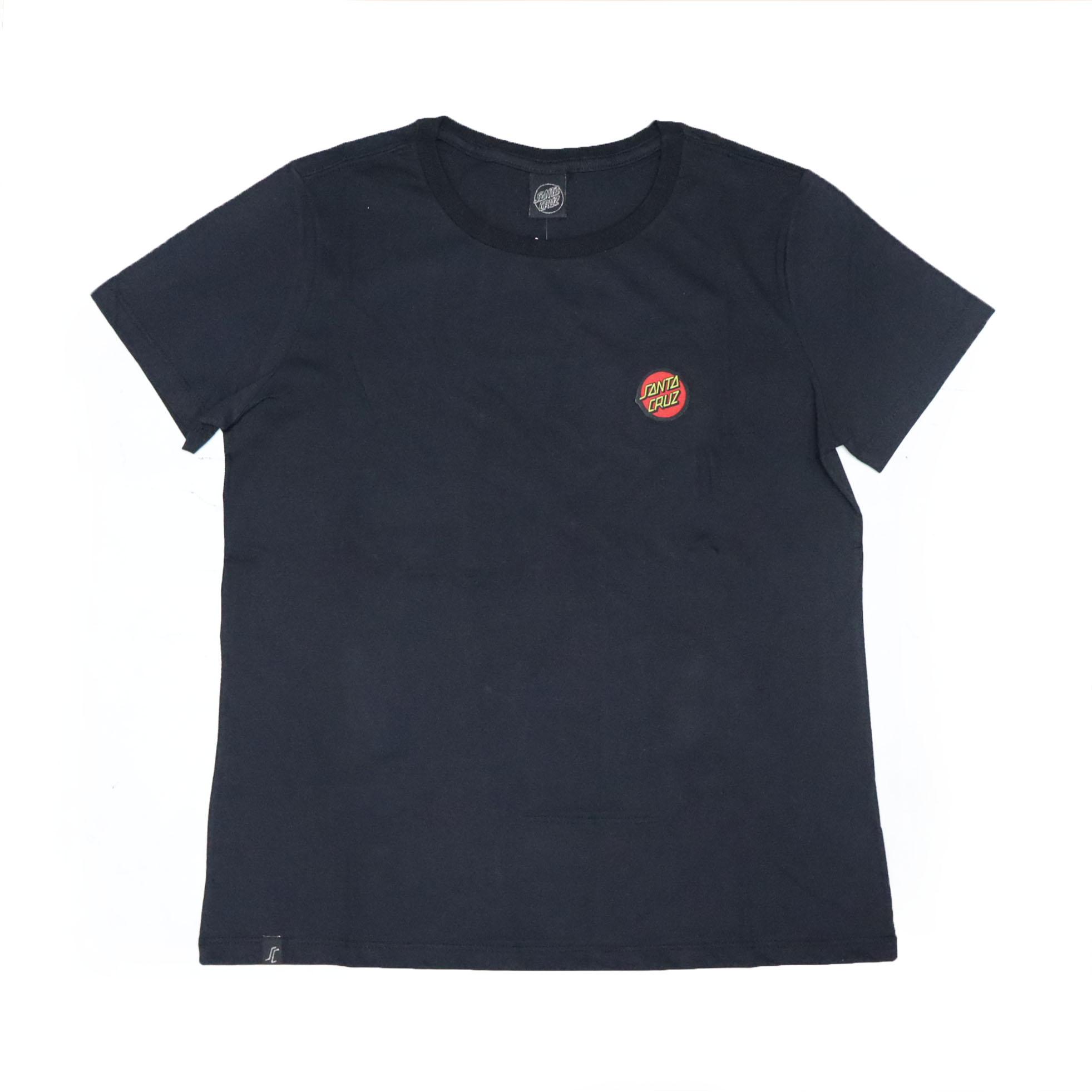 Camiseta Feminina Santa Cruz Classic Dot Chest - Preto